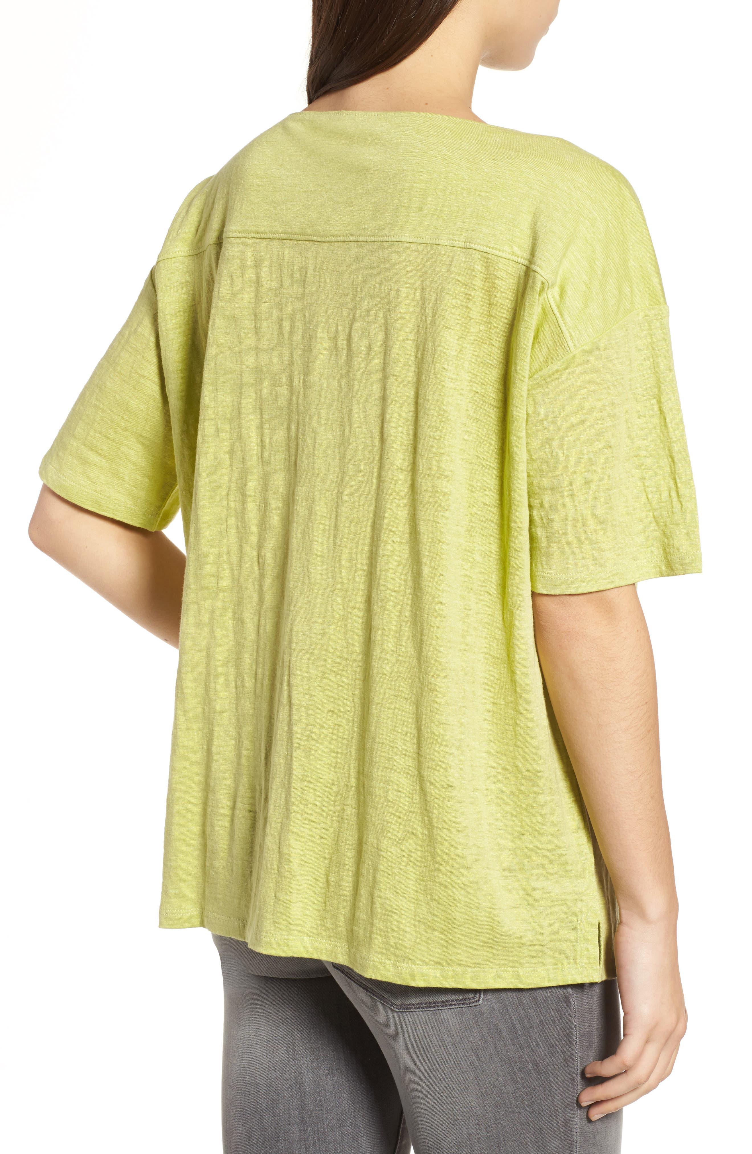 Slouchy Organic Linen Top,                             Alternate thumbnail 11, color,