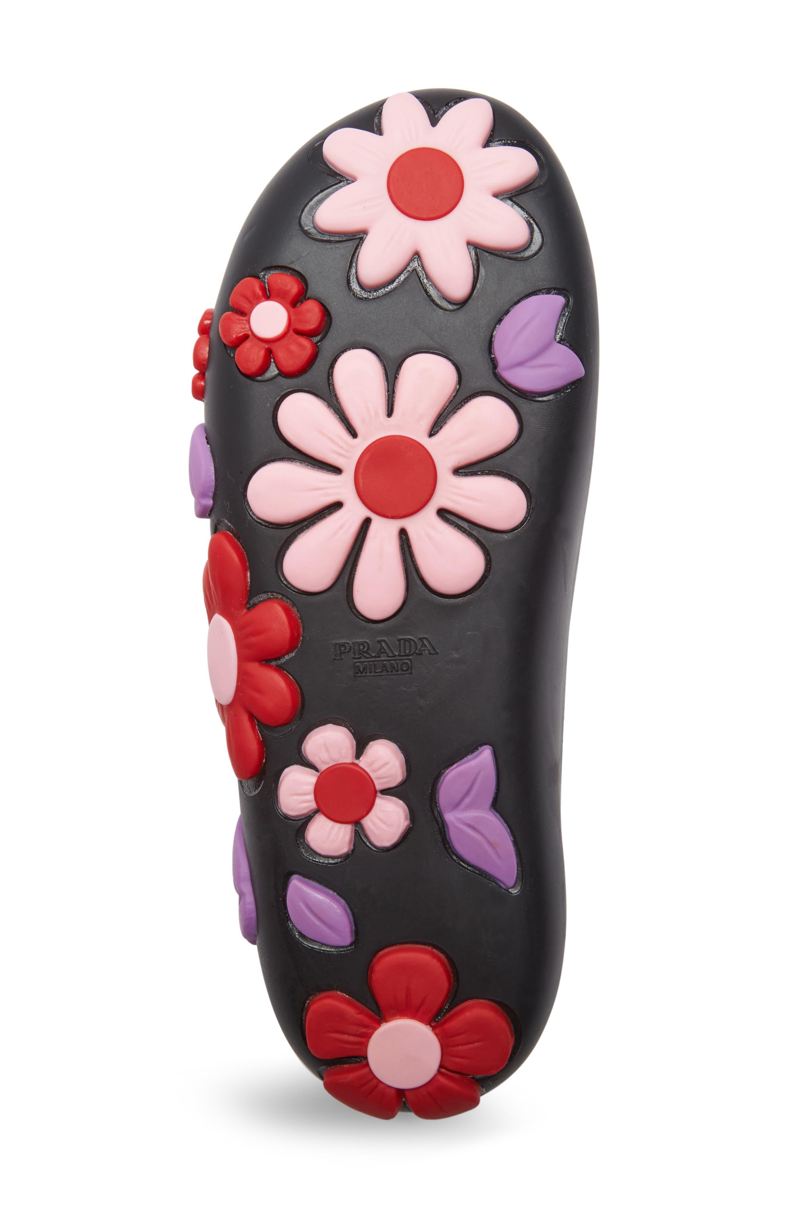 Floral Slide Sandal,                             Alternate thumbnail 4, color,                             001
