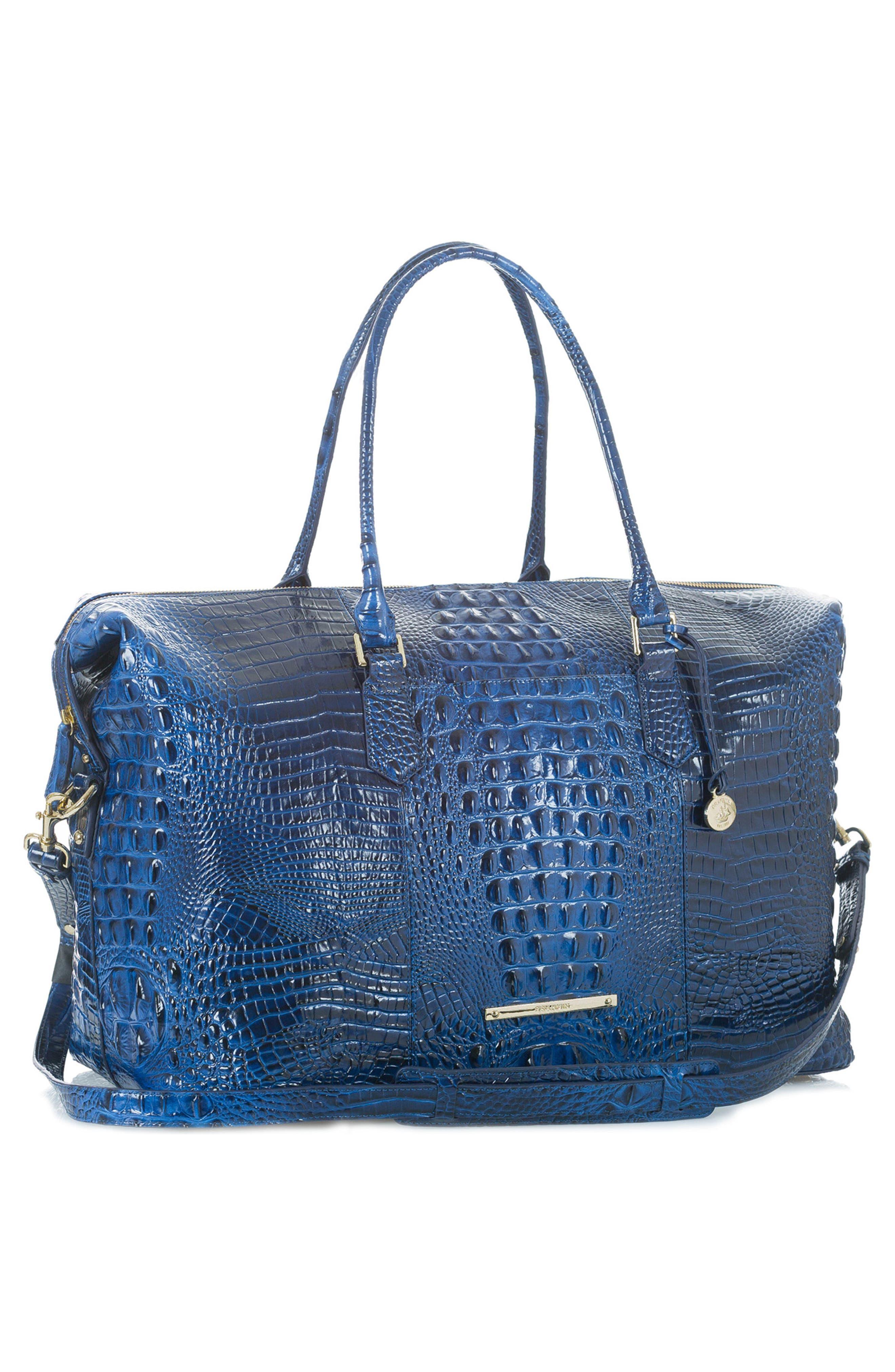 'Duxbury' Leather Travel Bag,                             Alternate thumbnail 9, color,
