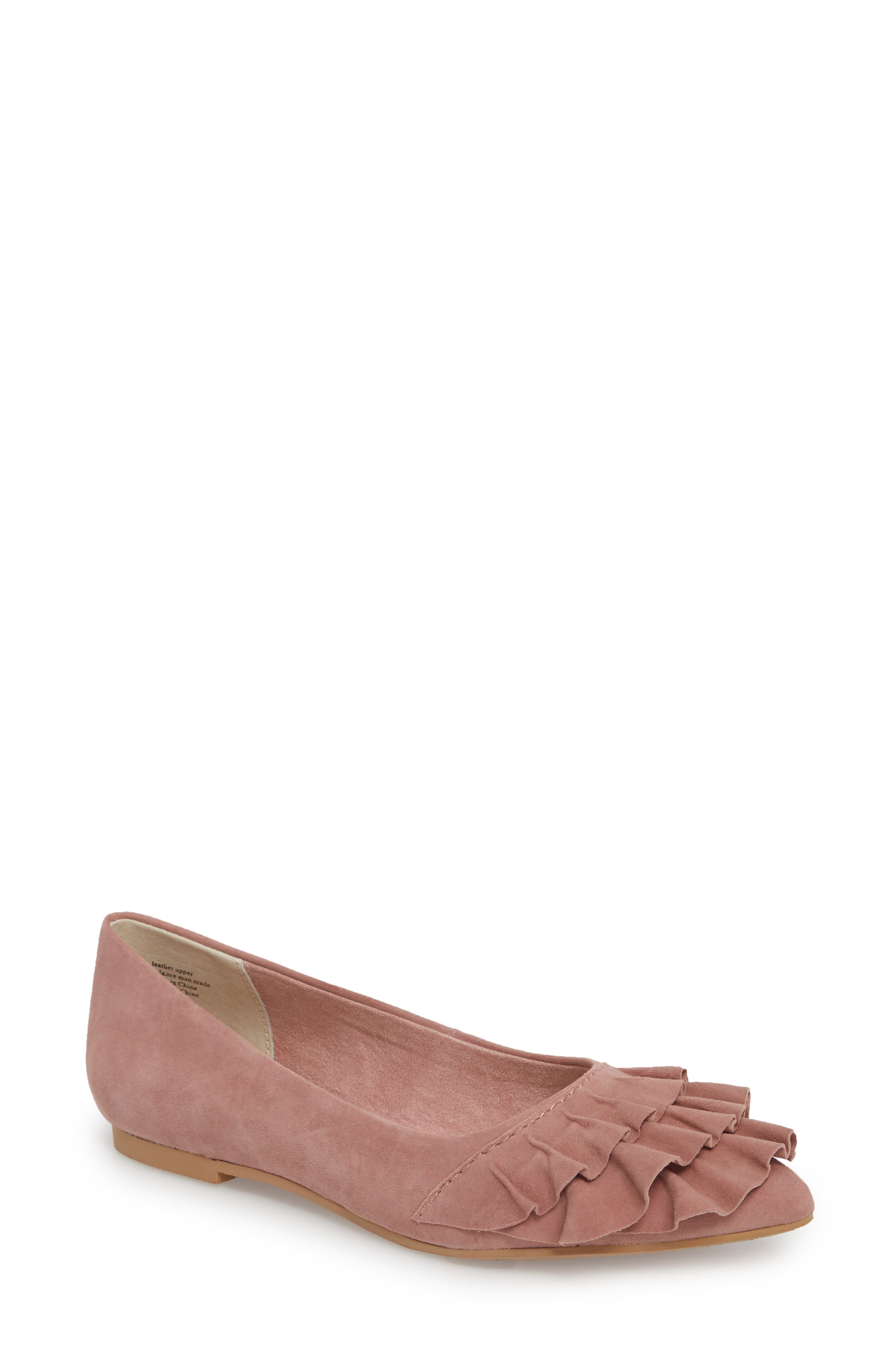 Downstage Pointy Toe Flat,                             Main thumbnail 3, color,