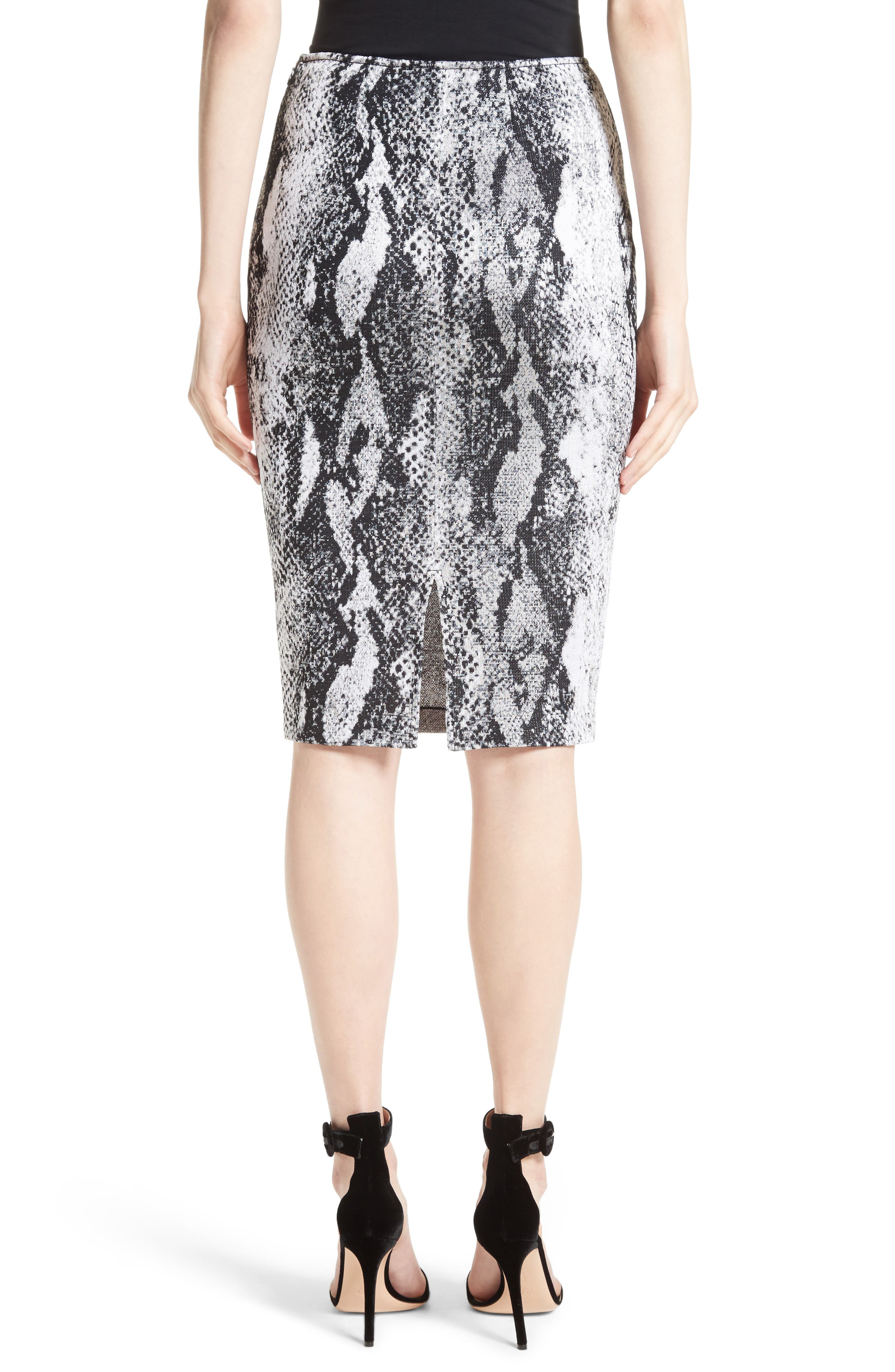 Raja Snakeskin Knit Pencil Skirt,                             Alternate thumbnail 2, color,                             050