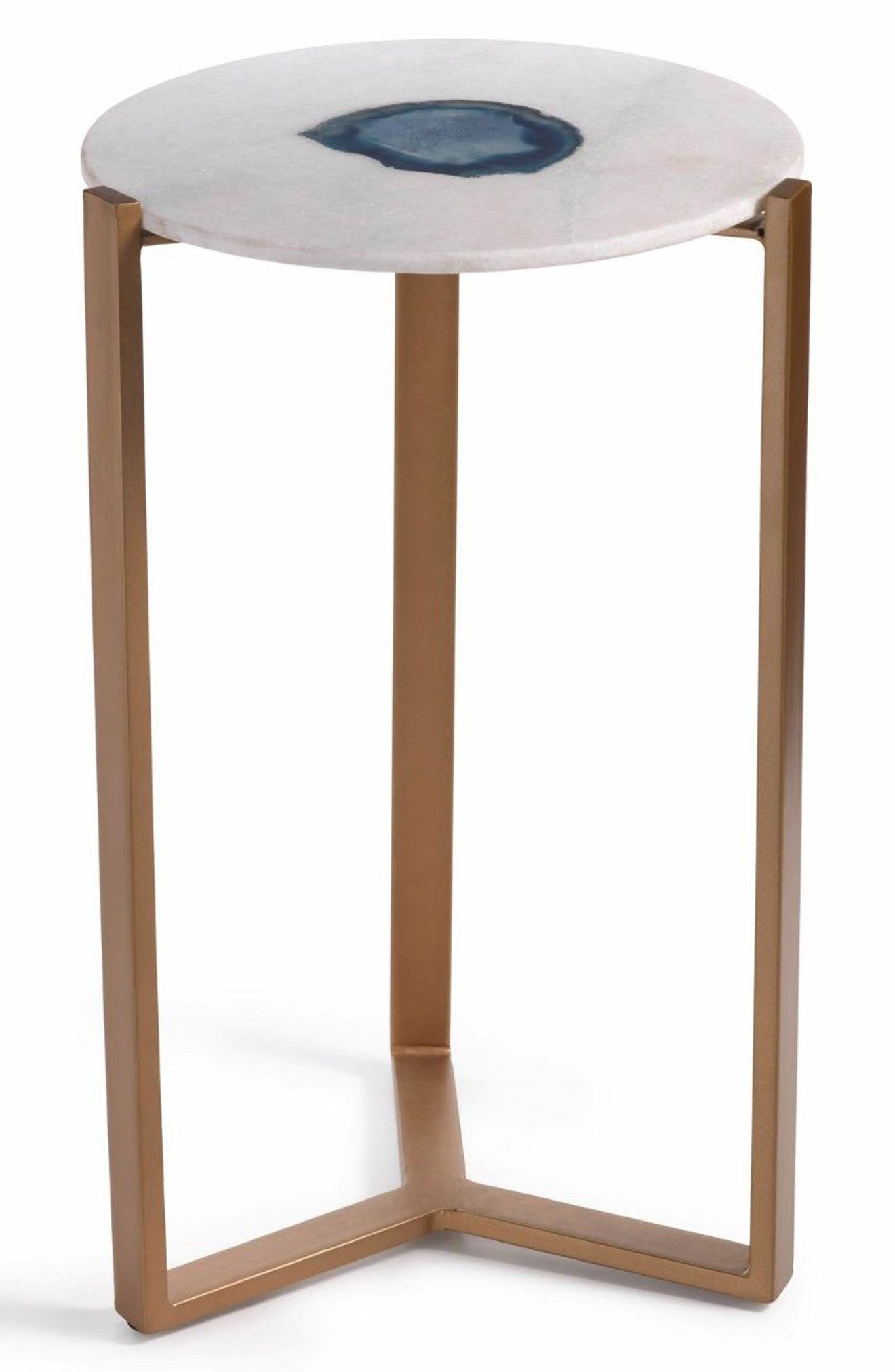 Caspian Agate & Marble Accent Table,                         Main,                         color, 100