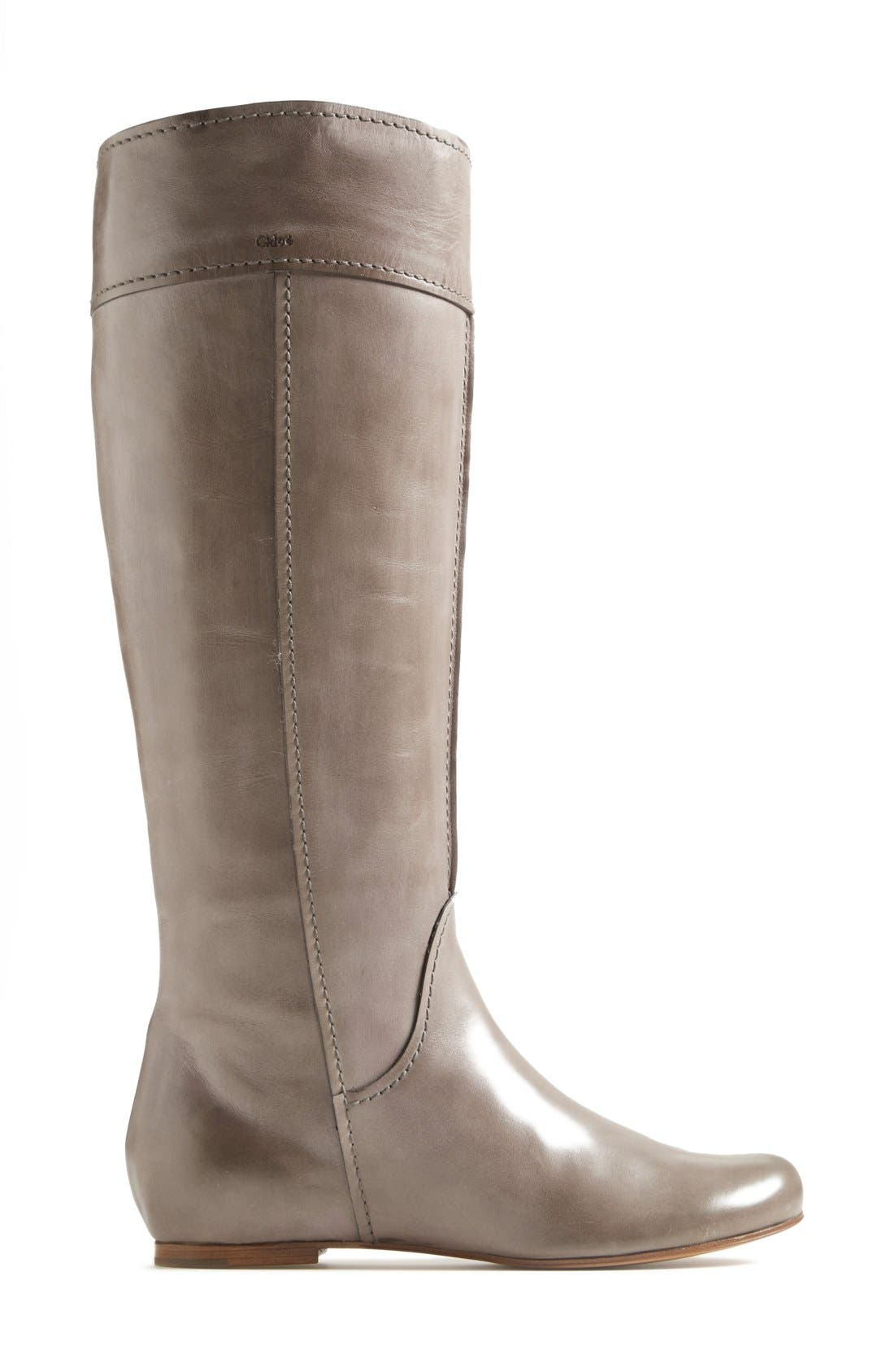 'Heloise' Tall Calfskin Leather Boot,                             Alternate thumbnail 2, color,                             020