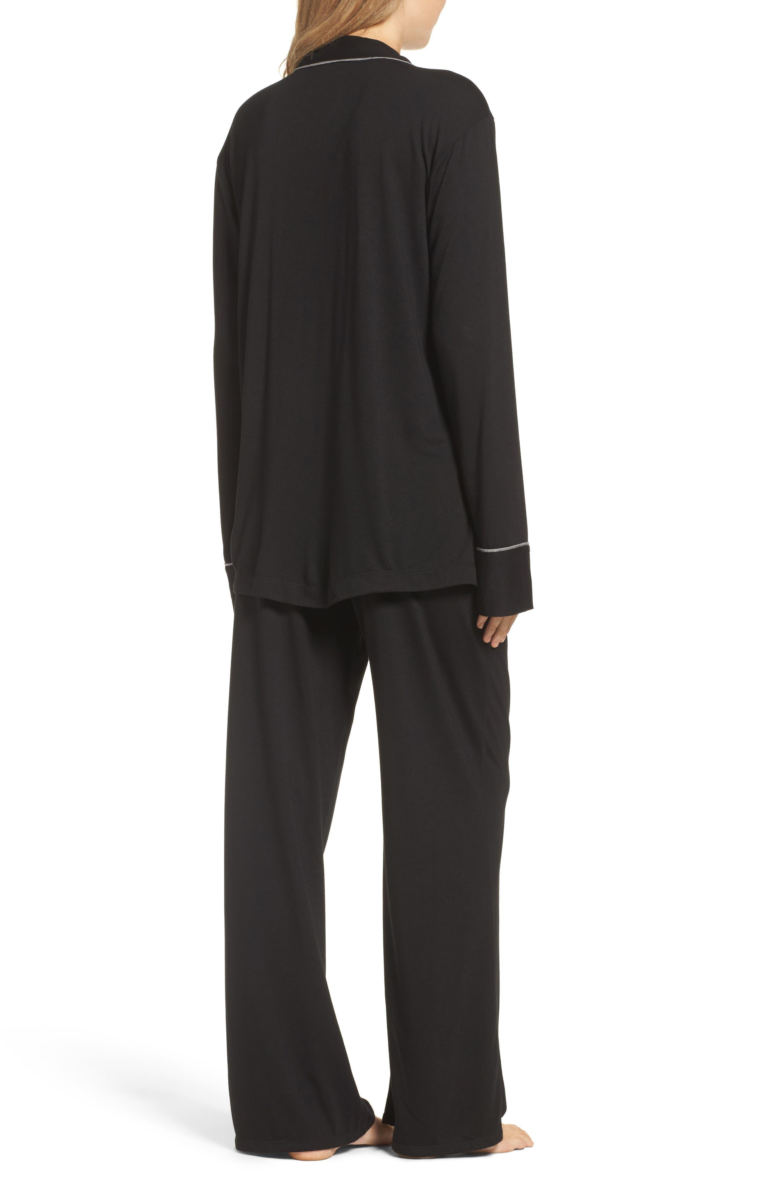 Shangri La Notch Collar Pajamas,                             Alternate thumbnail 2, color,                             001