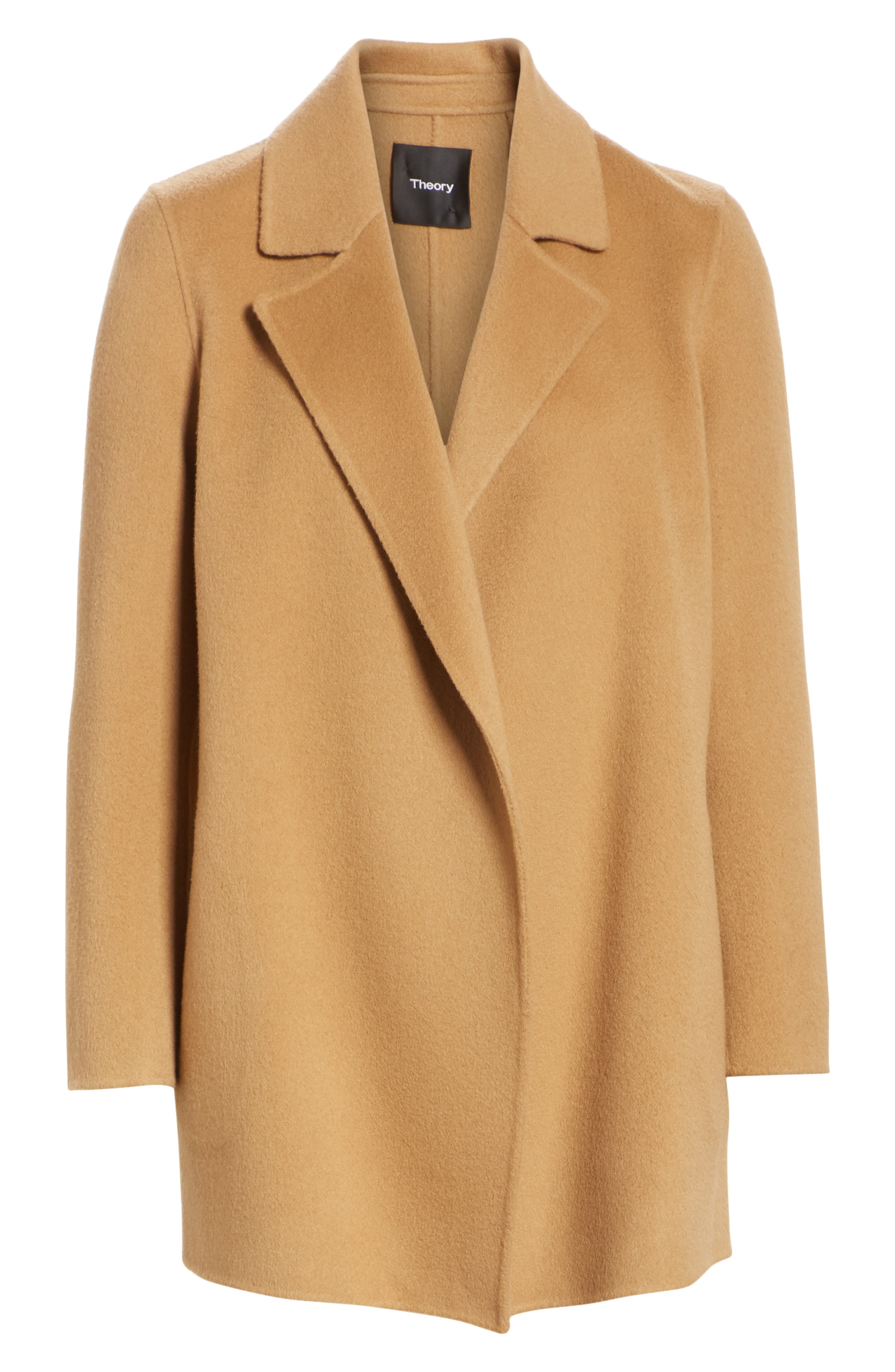 THEORY,                             Clairene New Divide Wool & Cashmere Coat,                             Alternate thumbnail 5, color,                             218