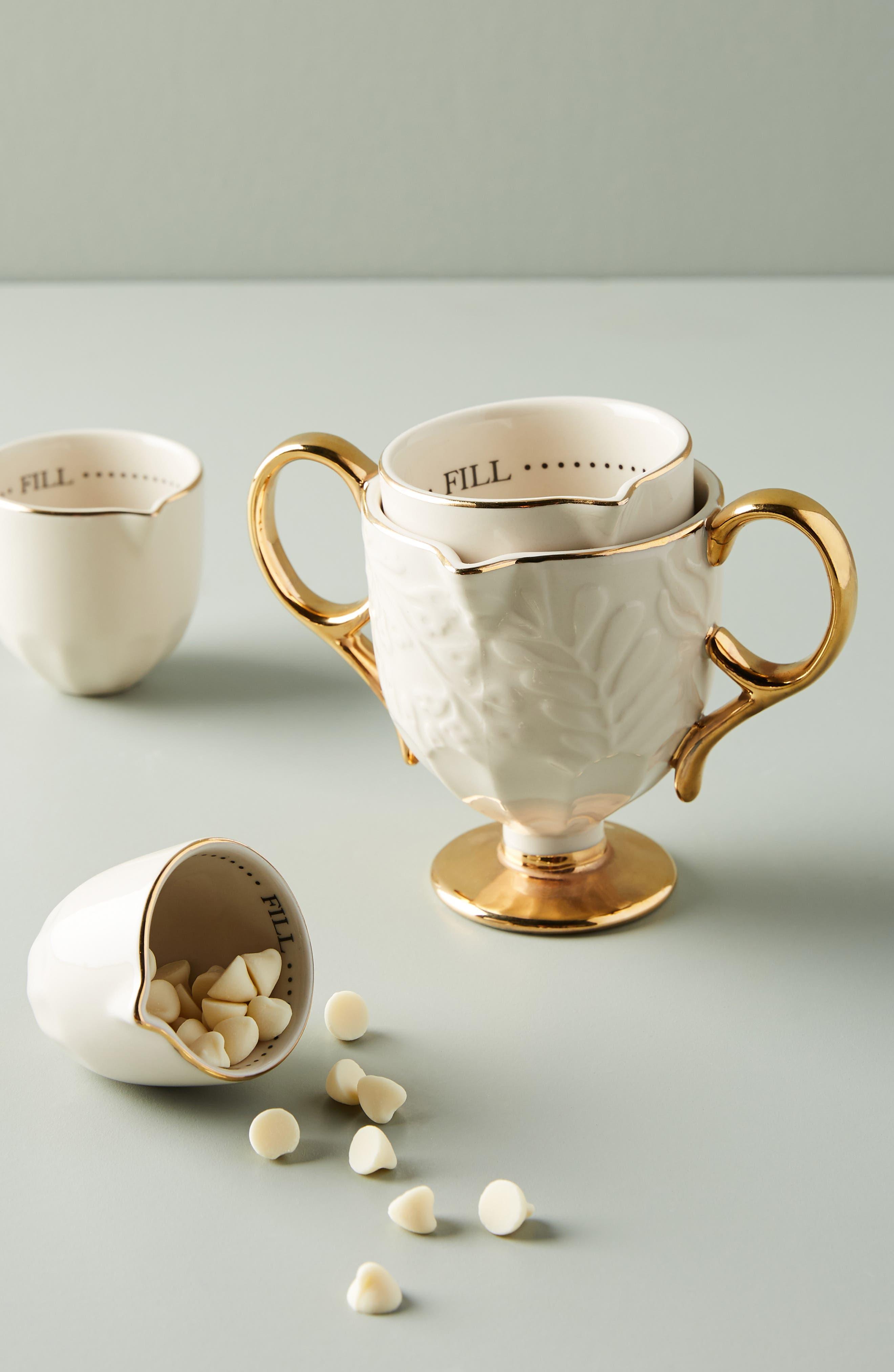 Dorina Set of 4 Measuring Cups,                             Alternate thumbnail 4, color,                             710