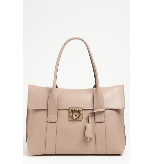 cc3897bbe6d2 Salvatore Ferragamo  Sookie  Leather Shopper
