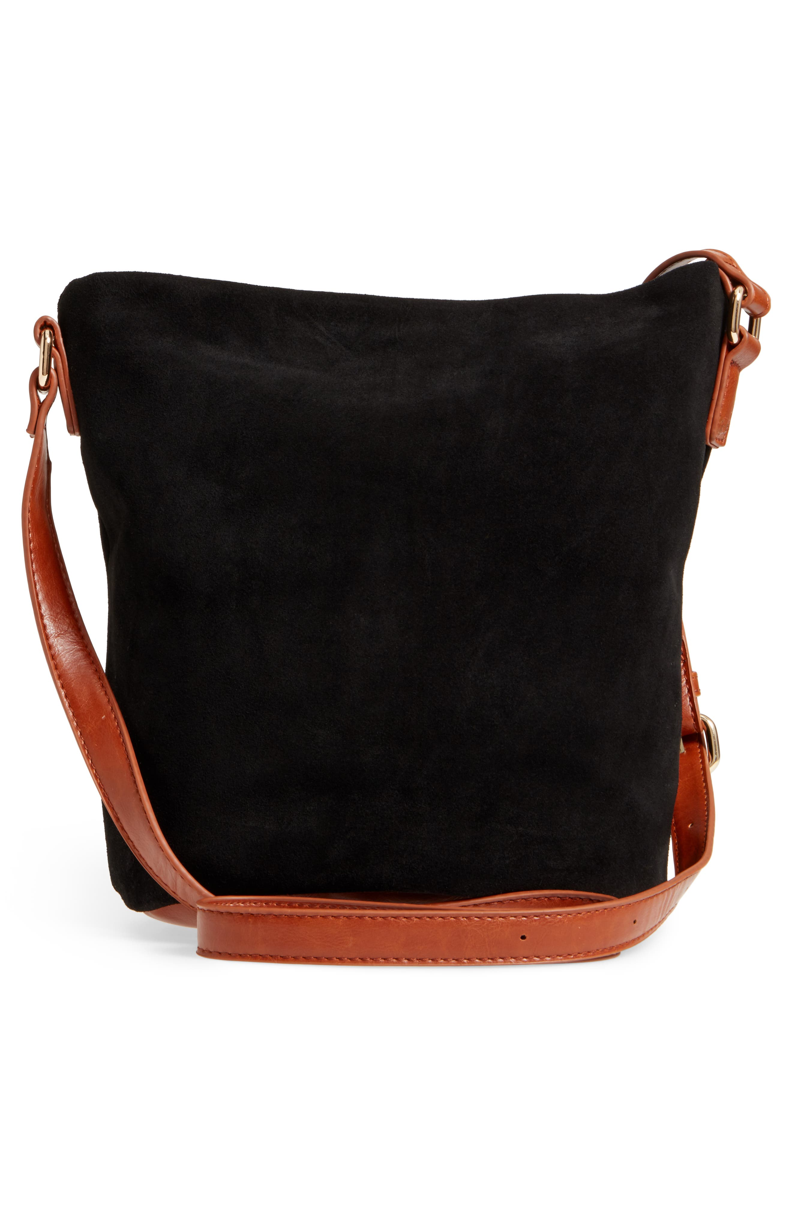 Lana Slouchy Suede Crossbody Bag,                             Alternate thumbnail 3, color,                             200