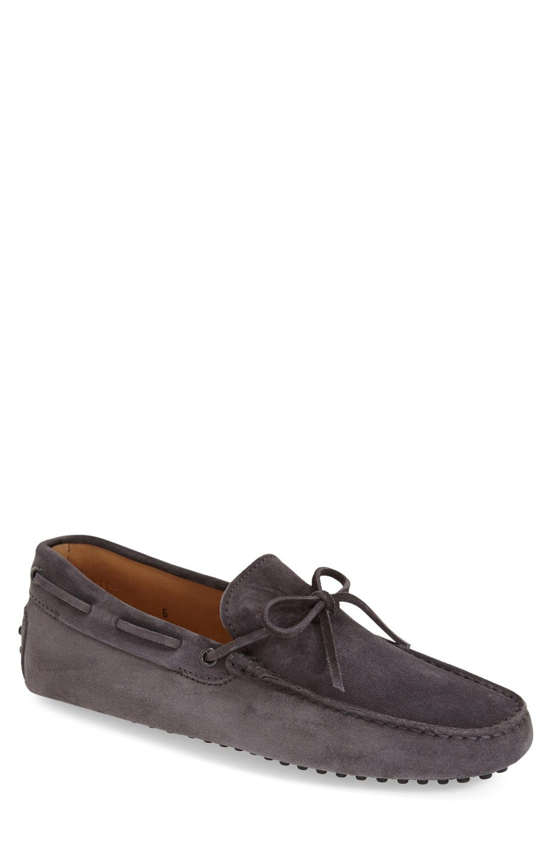 Gommini Tie Front Driving Moccasin,                             Main thumbnail 3, color,