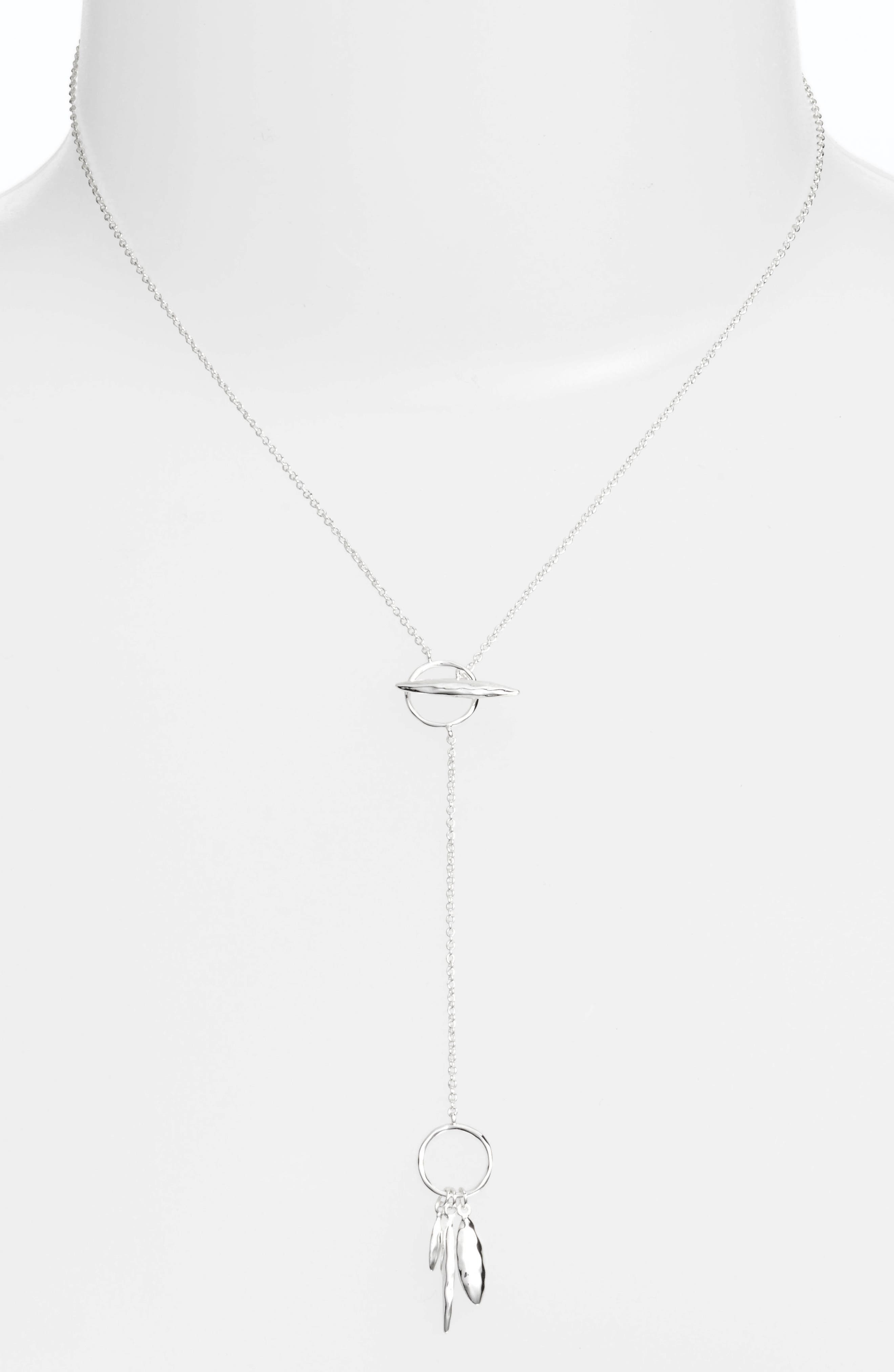 Nora Small Hammered Toggle Necklace,                             Alternate thumbnail 2, color,                             040