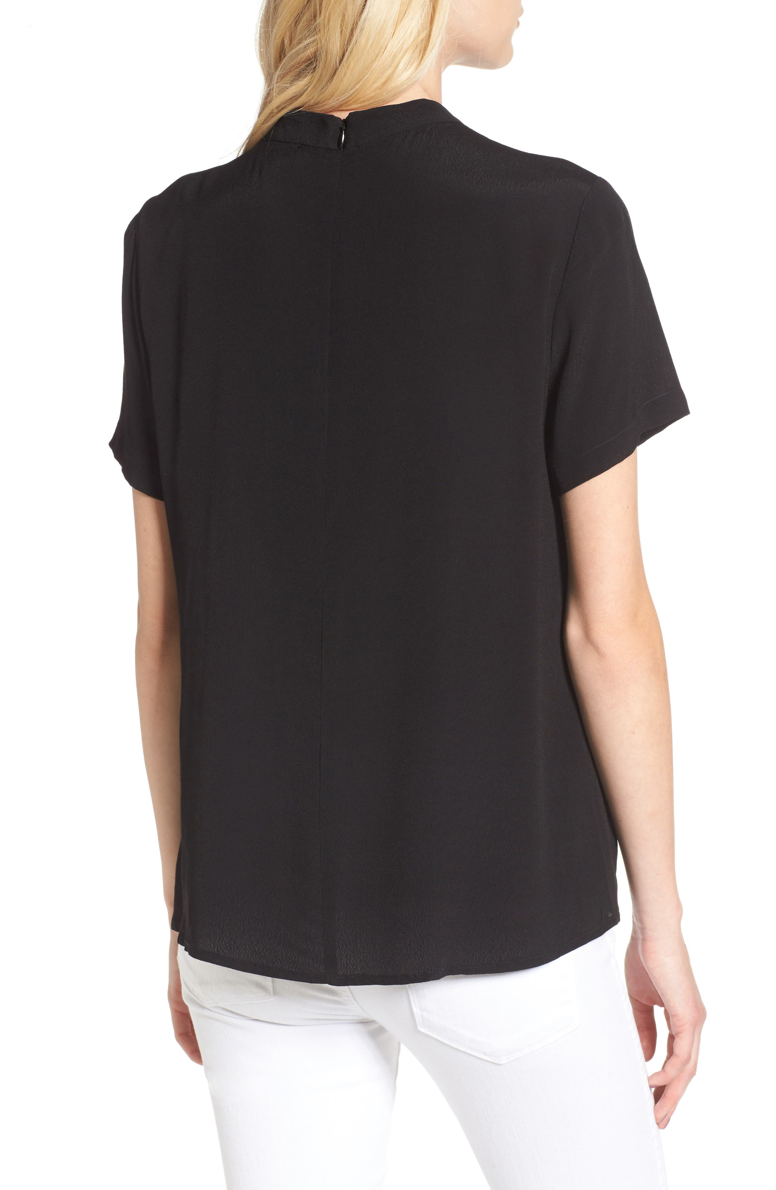 Band Neck Top,                             Alternate thumbnail 2, color,                             001