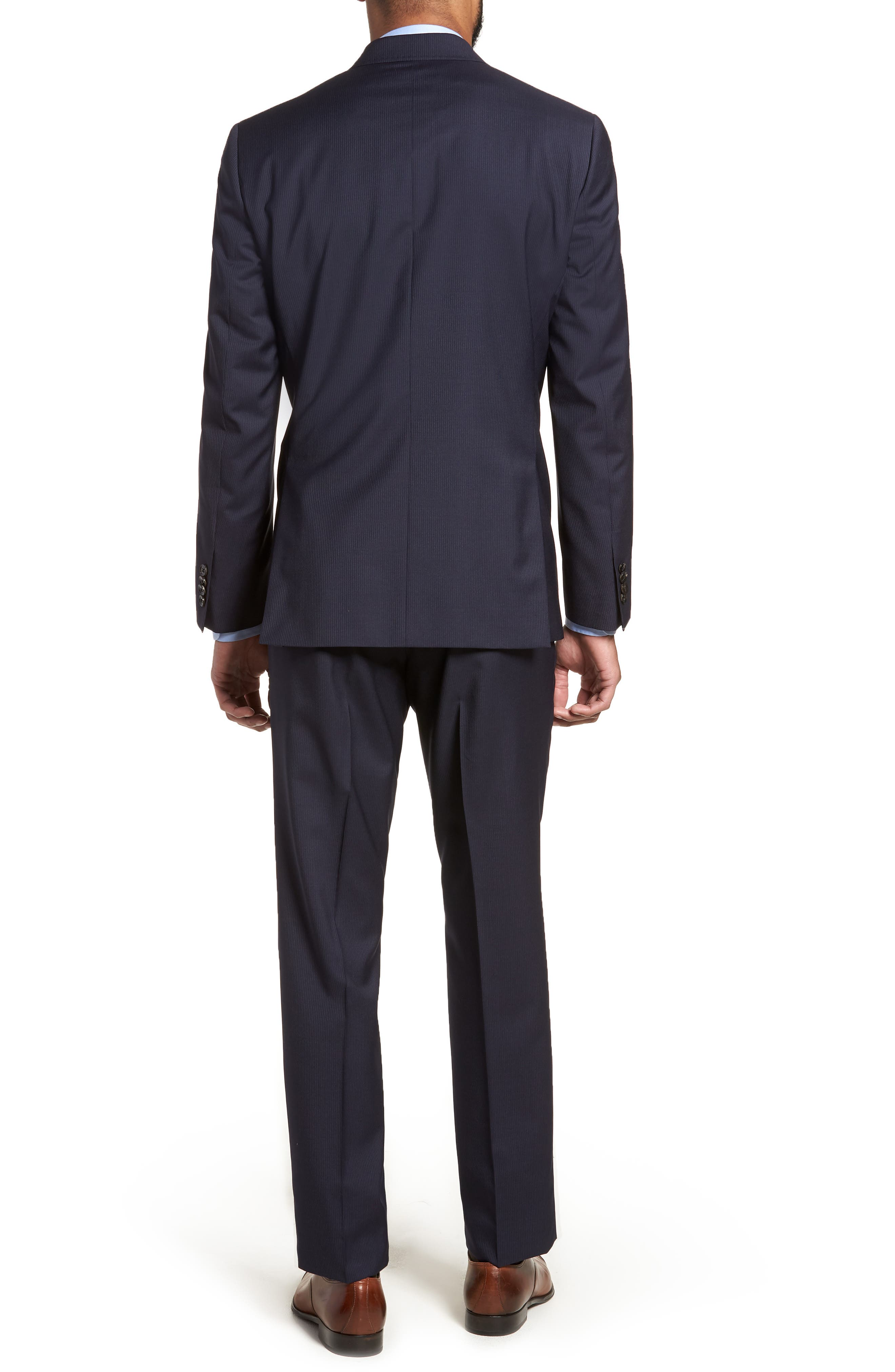Jay Trim Fit Stripe Wool Suit,                             Alternate thumbnail 2, color,                             NAVY
