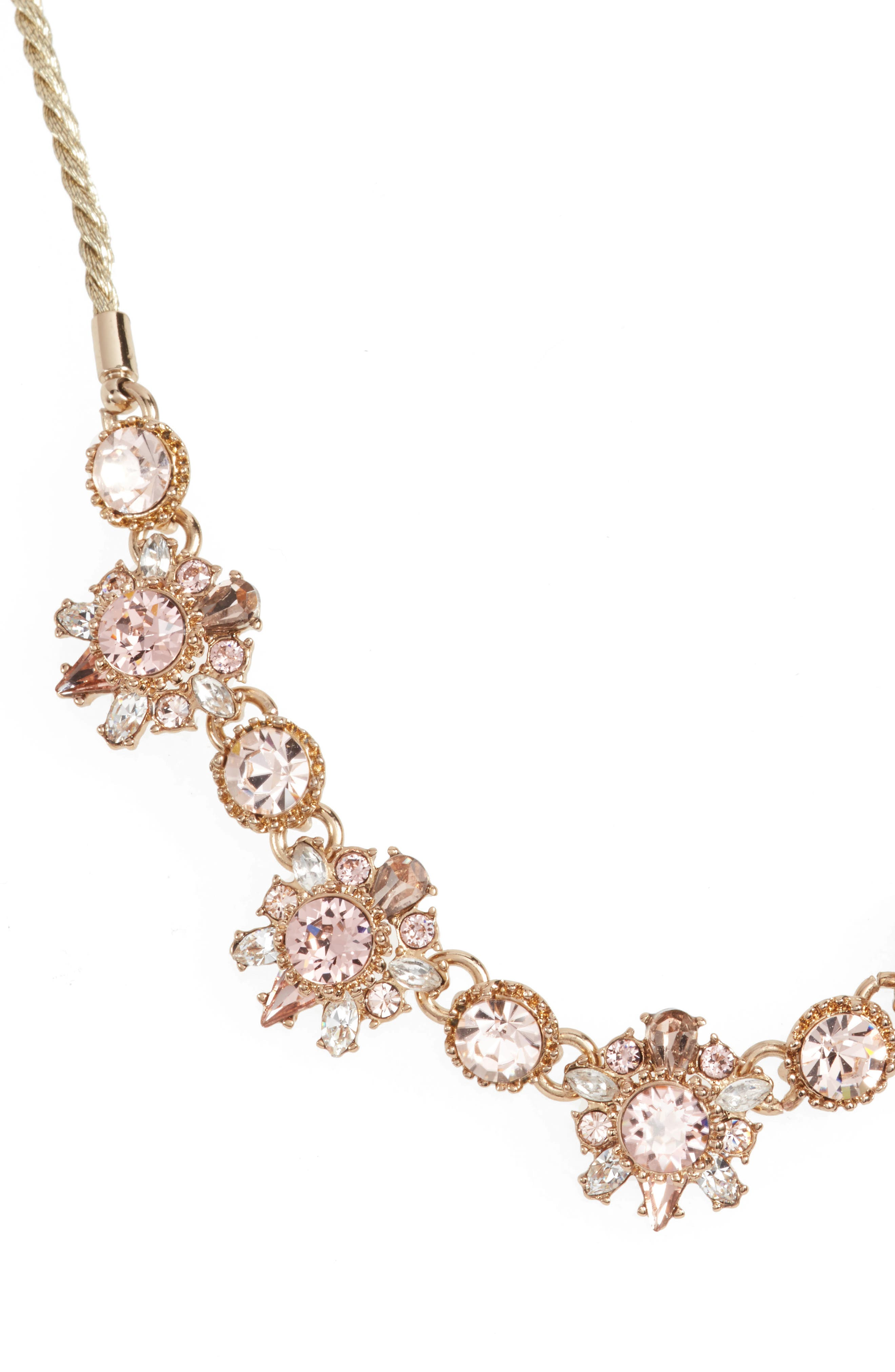 Crystal Necklace,                             Main thumbnail 1, color,                             GOLD/ VINTAGE ROSE