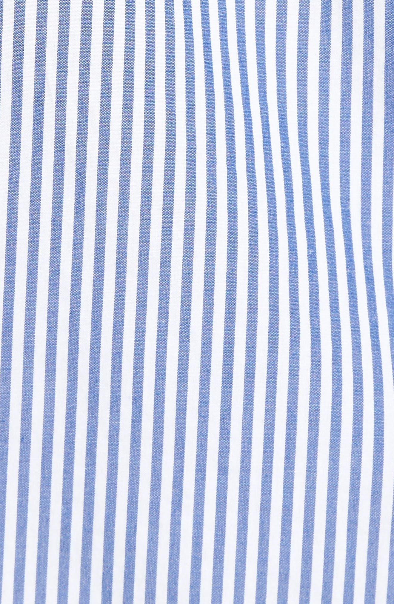 Classic Fit Stretch Secret Wash Stripe Sport Shirt,                             Alternate thumbnail 5, color,                             408