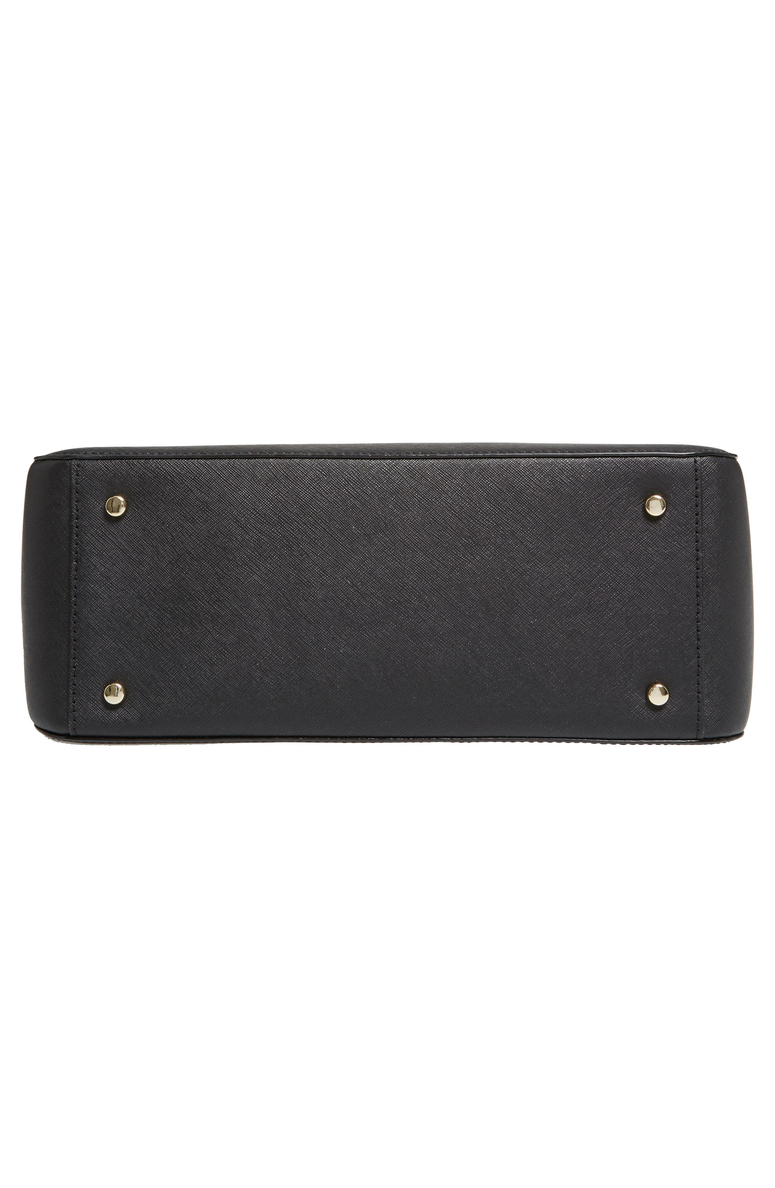 cameron street - sally leather satchel,                             Alternate thumbnail 6, color,                             001