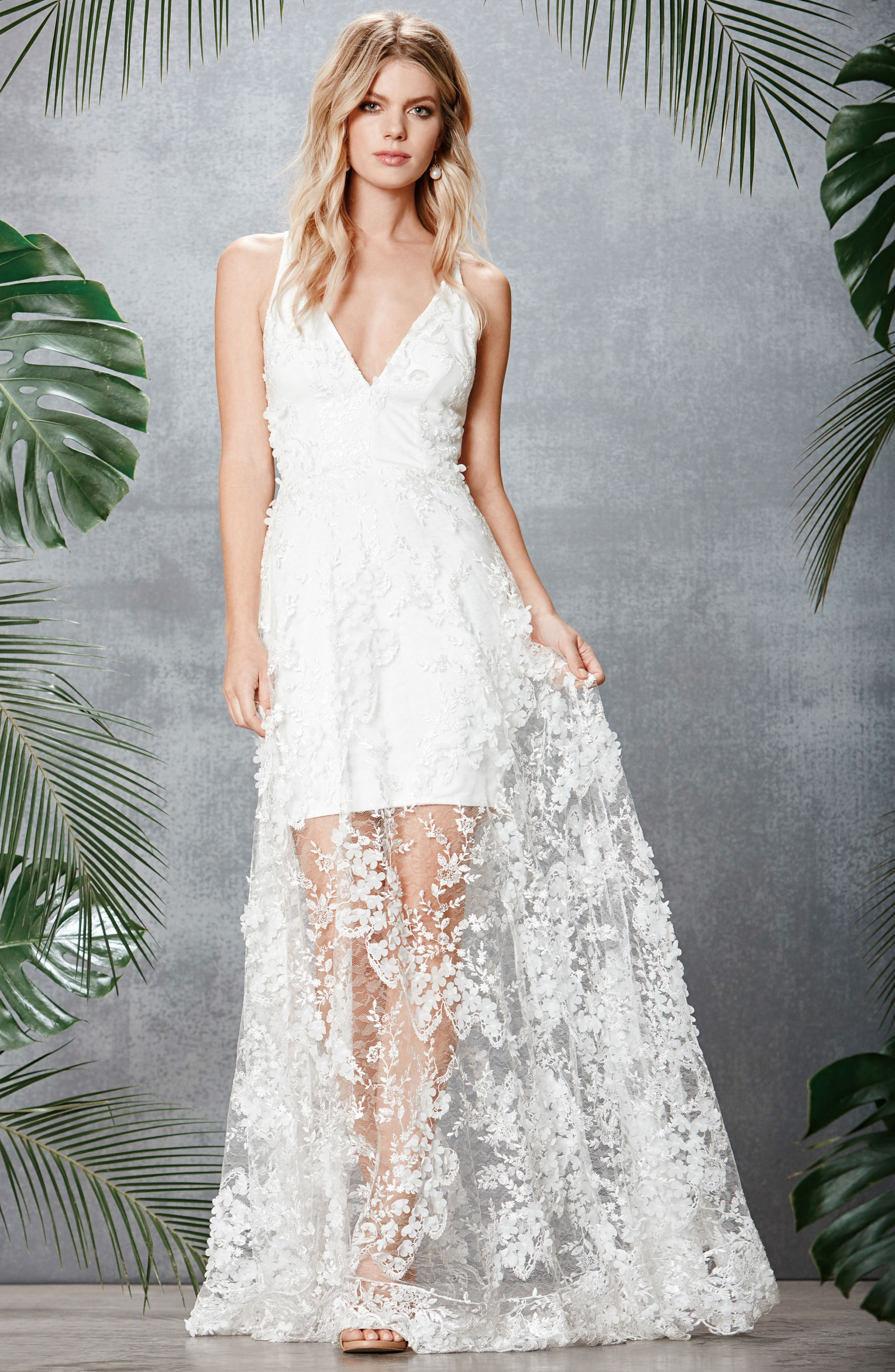 Sidney Lace Gown,                             Alternate thumbnail 17, color,