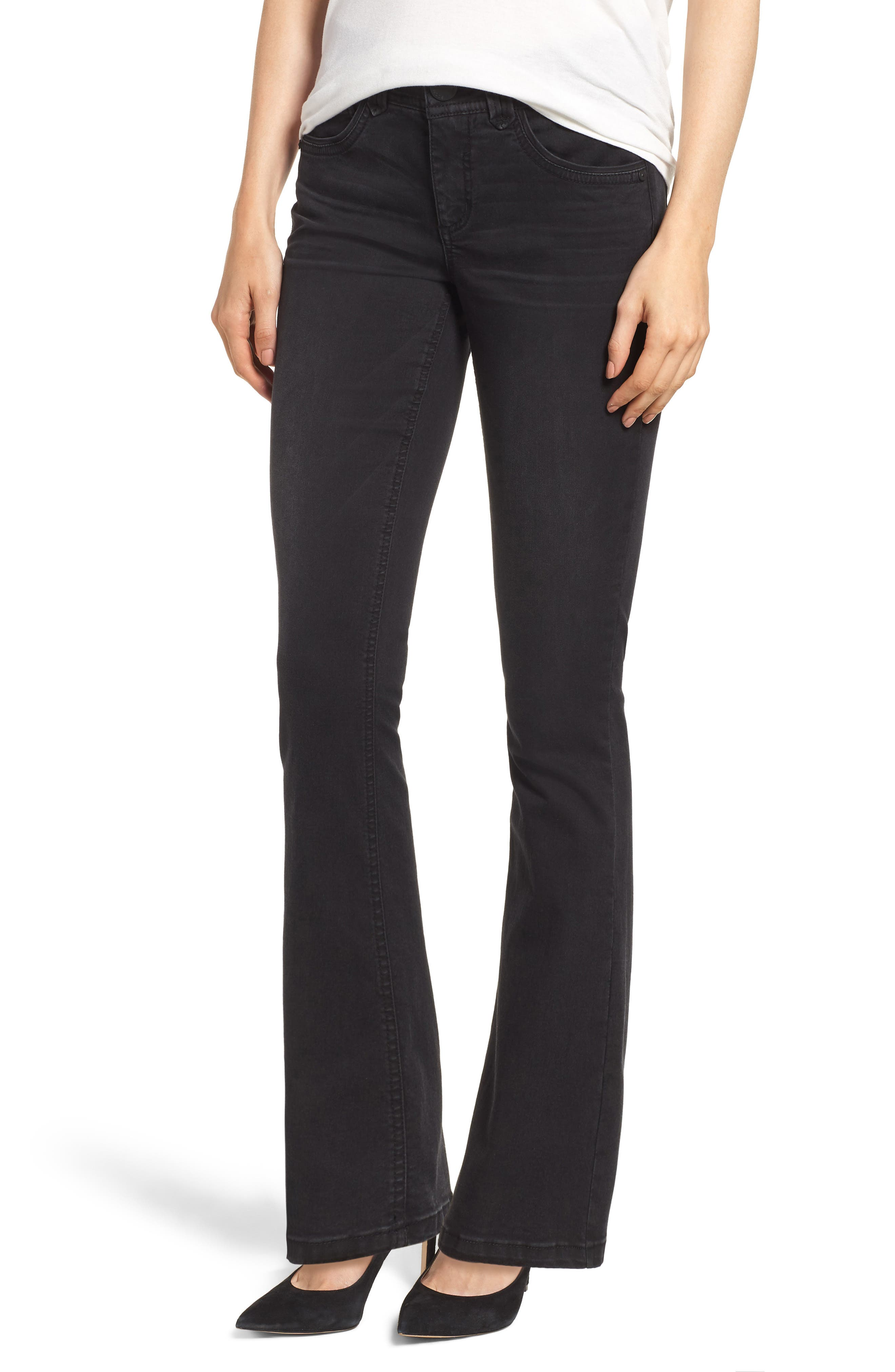 Ab-solution Itty Bitty Bootcut Jeans,                         Main,                         color, BK- BLACK