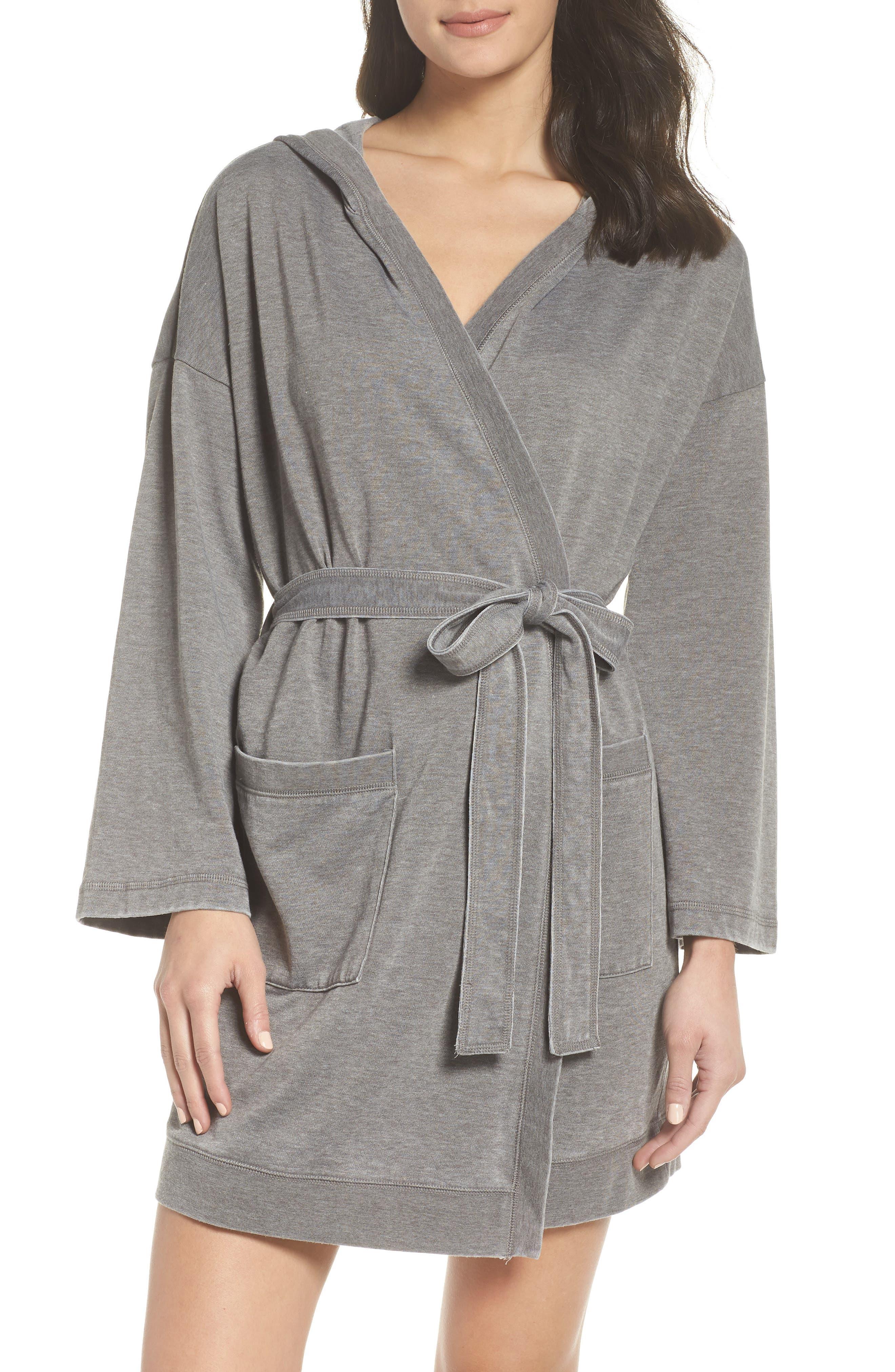 Sweatshirt Robe,                         Main,                         color, GREY CASTLEROCK