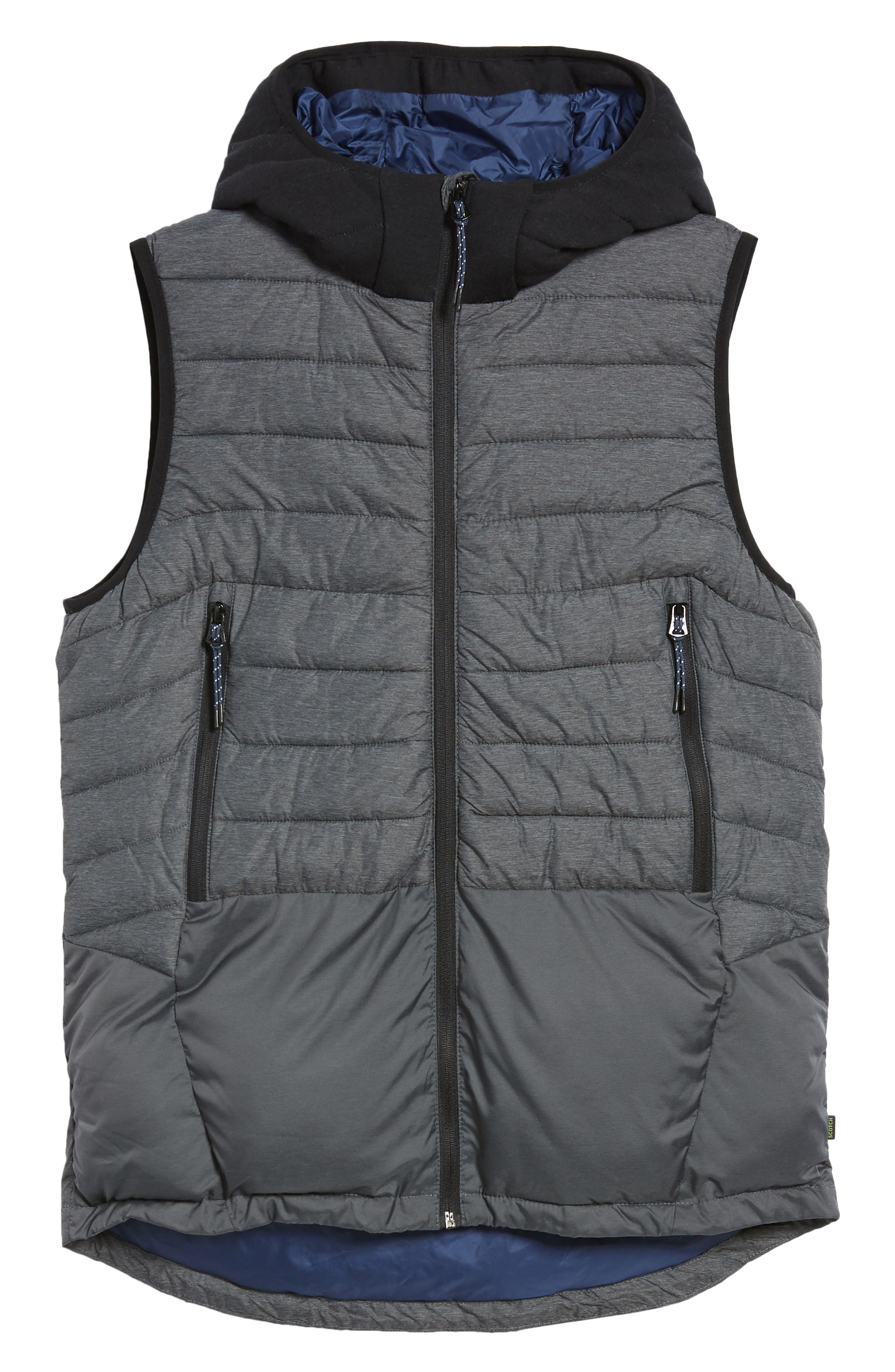 Quilted Hooded Vest,                             Alternate thumbnail 6, color,                             030