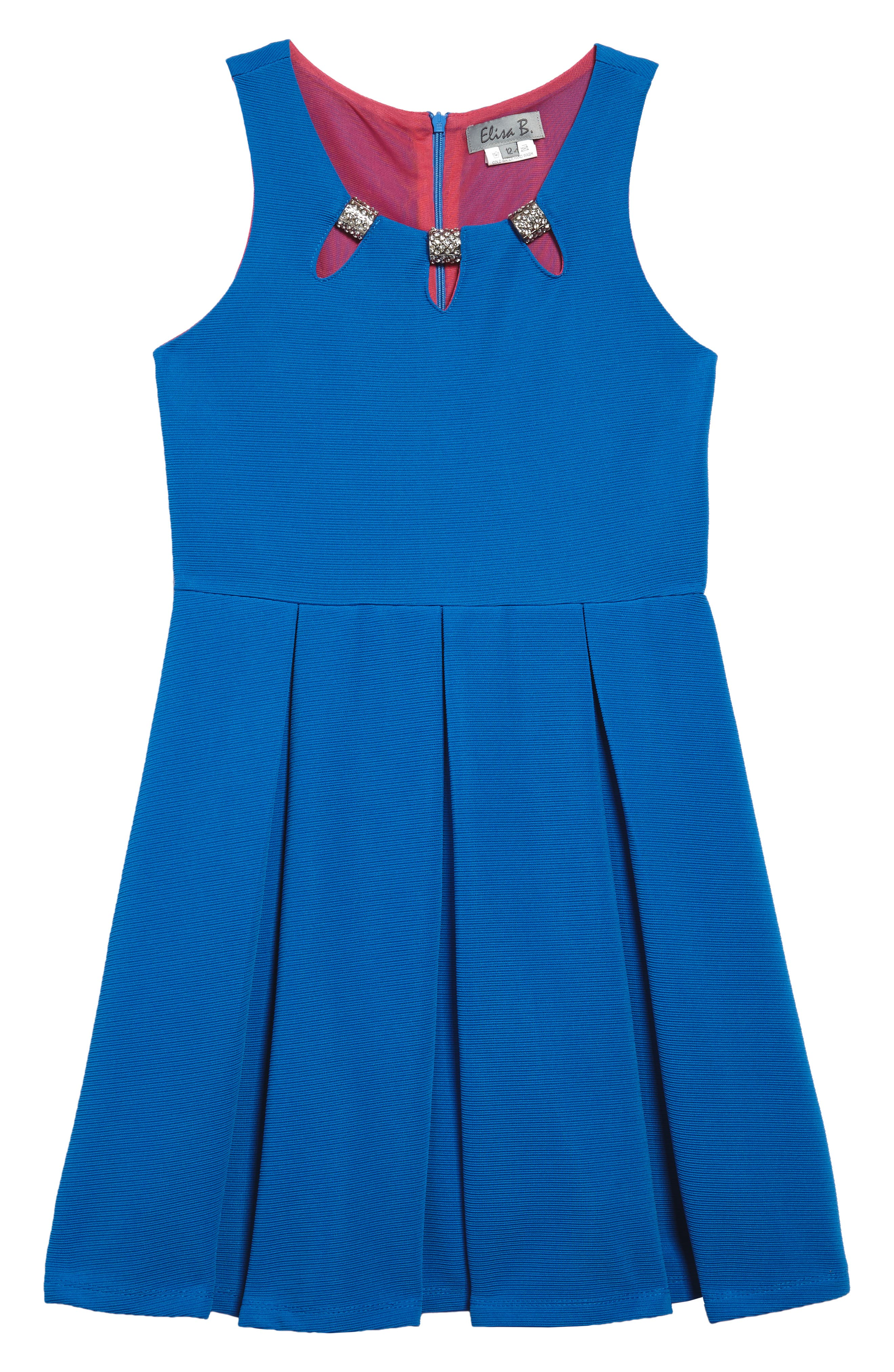 Pleated Dress,                         Main,                         color, 434