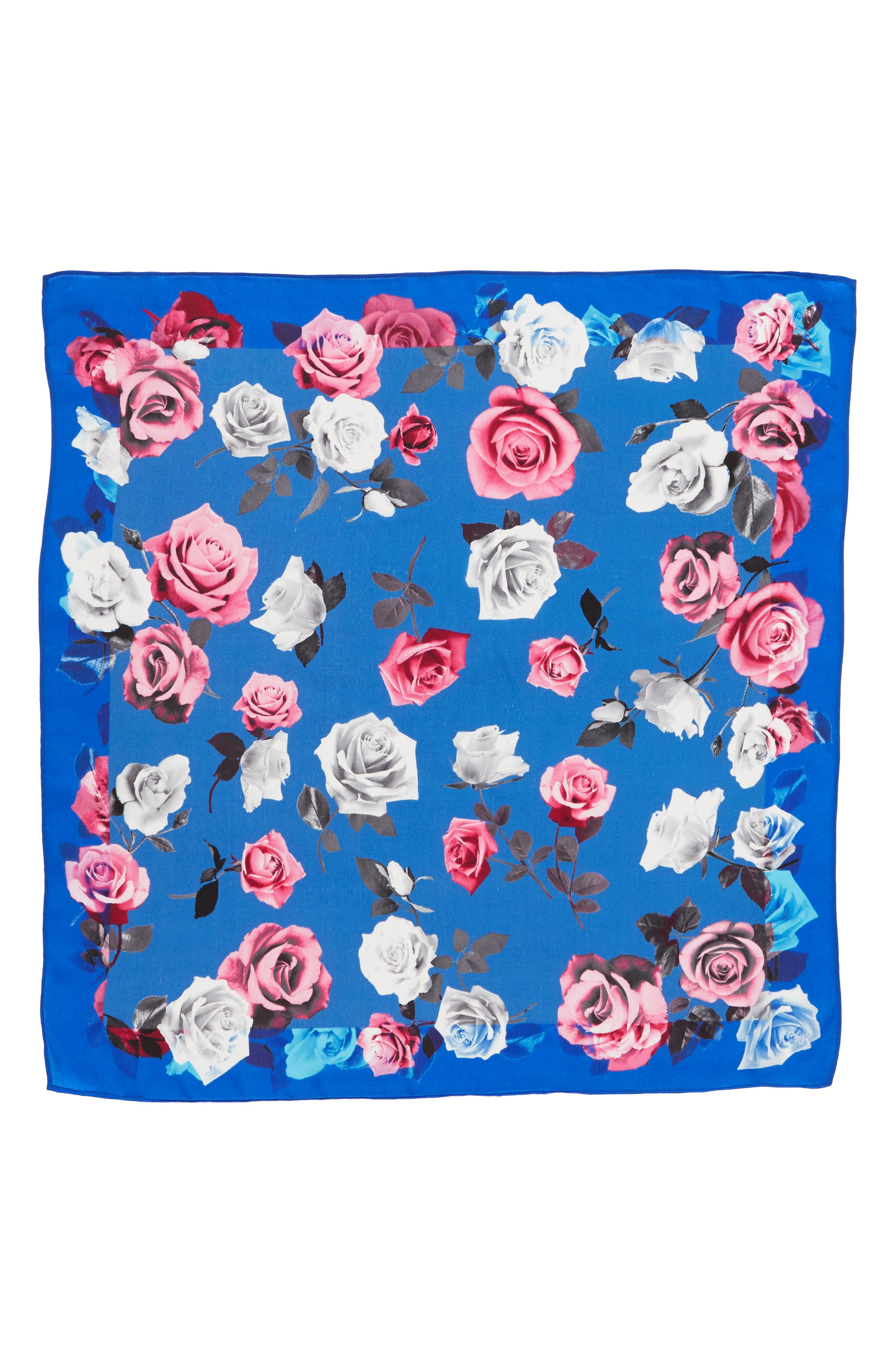 Print Silk Scarf,                             Alternate thumbnail 3, color,                             420