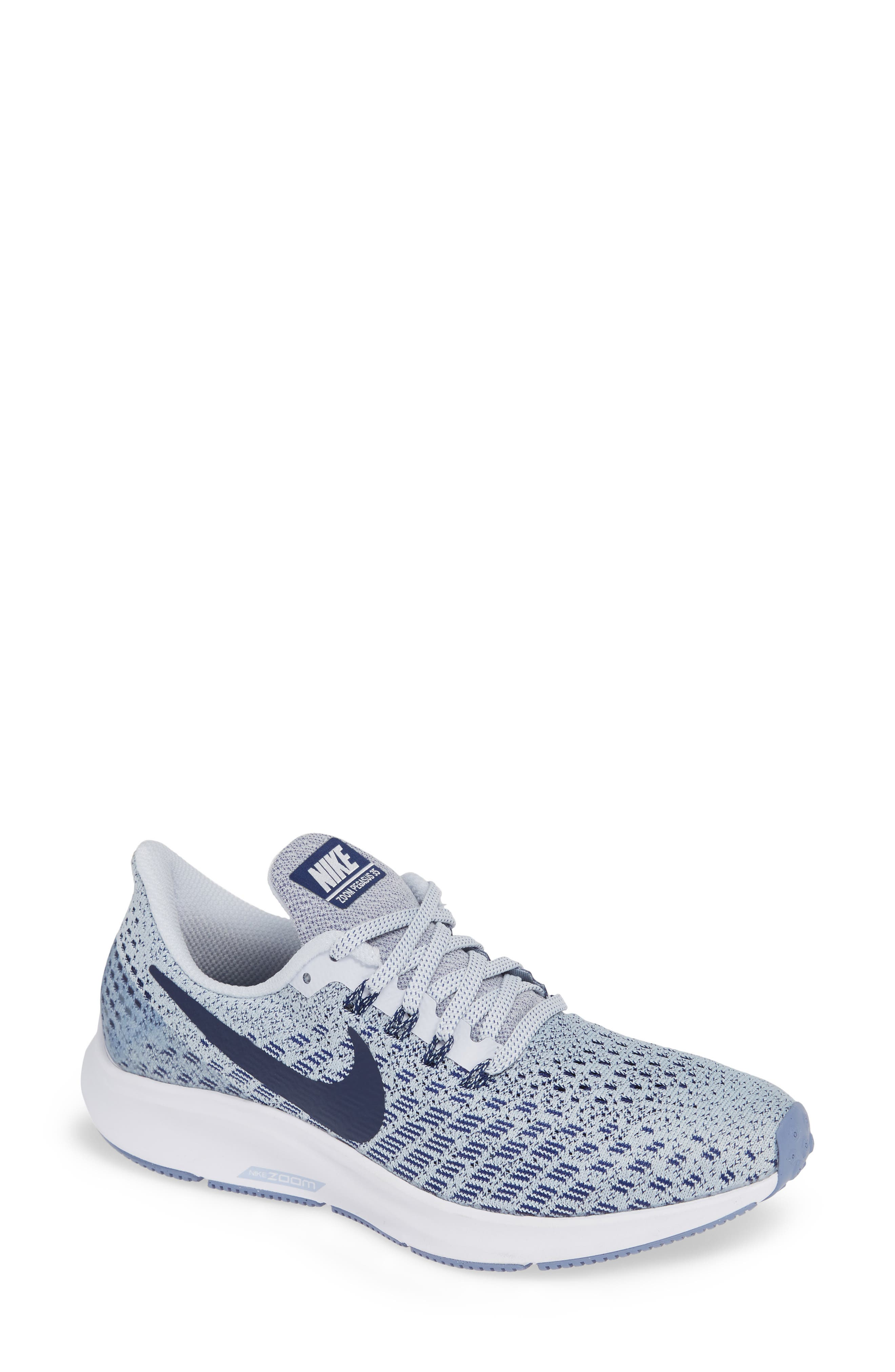 Air Zoom Pegasus 35 Running Shoe,                         Main,                         color, GREY/ BLUE/ WHITE/ ALUMINUM