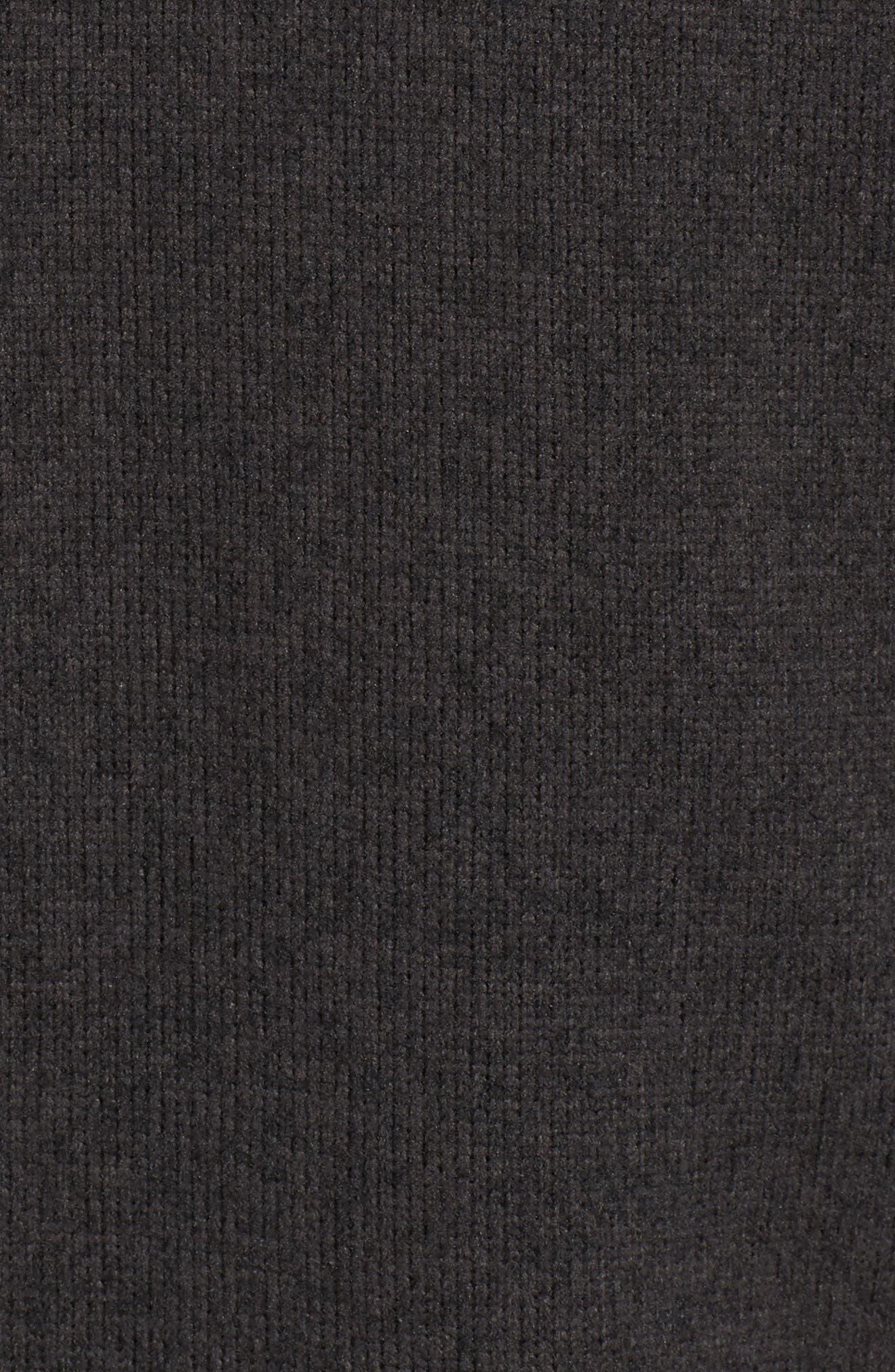 'Gordon Lyons' Zip Fleece Jacket,                             Alternate thumbnail 5, color,                             BLACK HEATHER