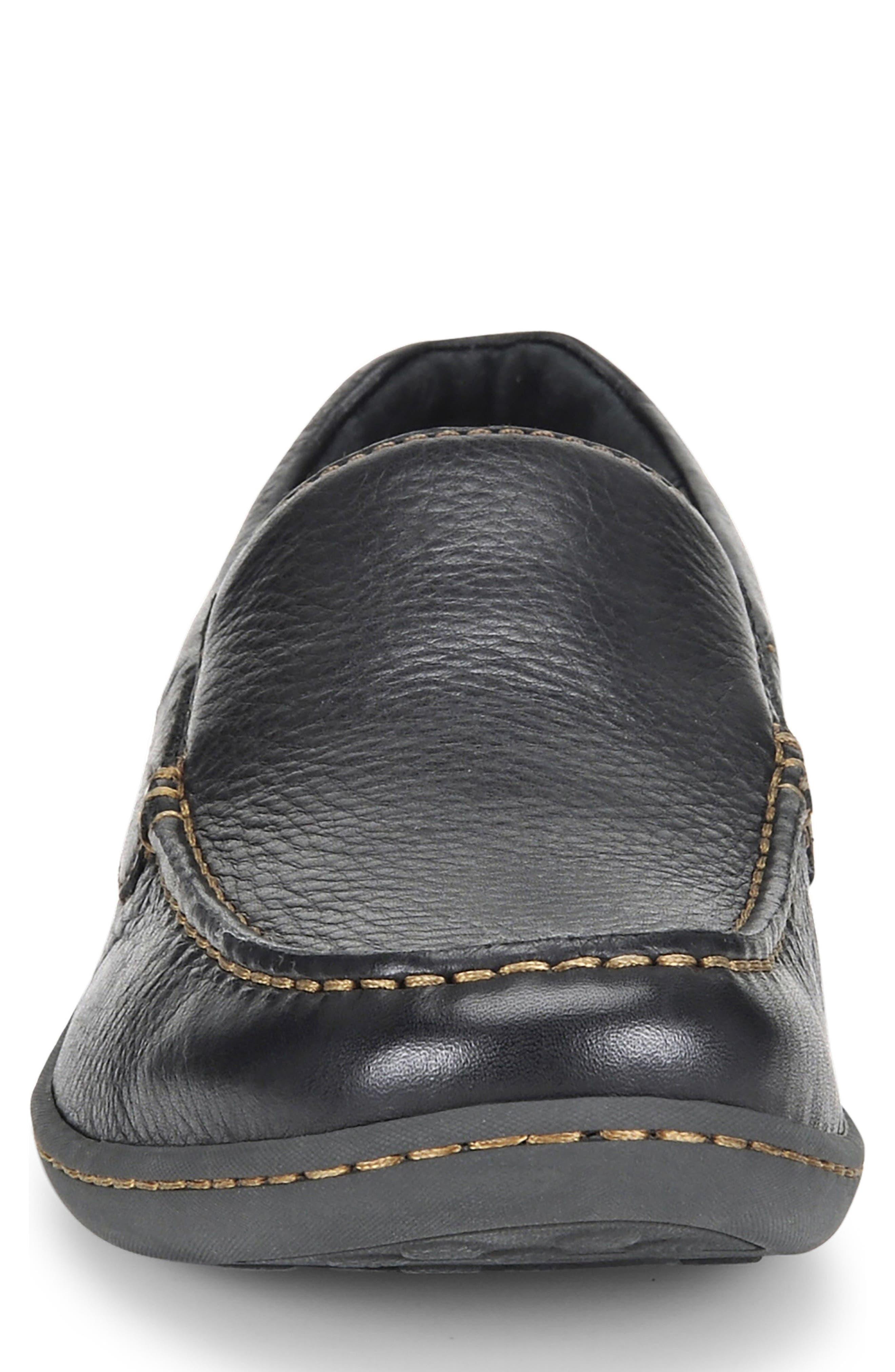BØRN,                             Brompton Loafer,                             Alternate thumbnail 4, color,                             BLACK LEATHER