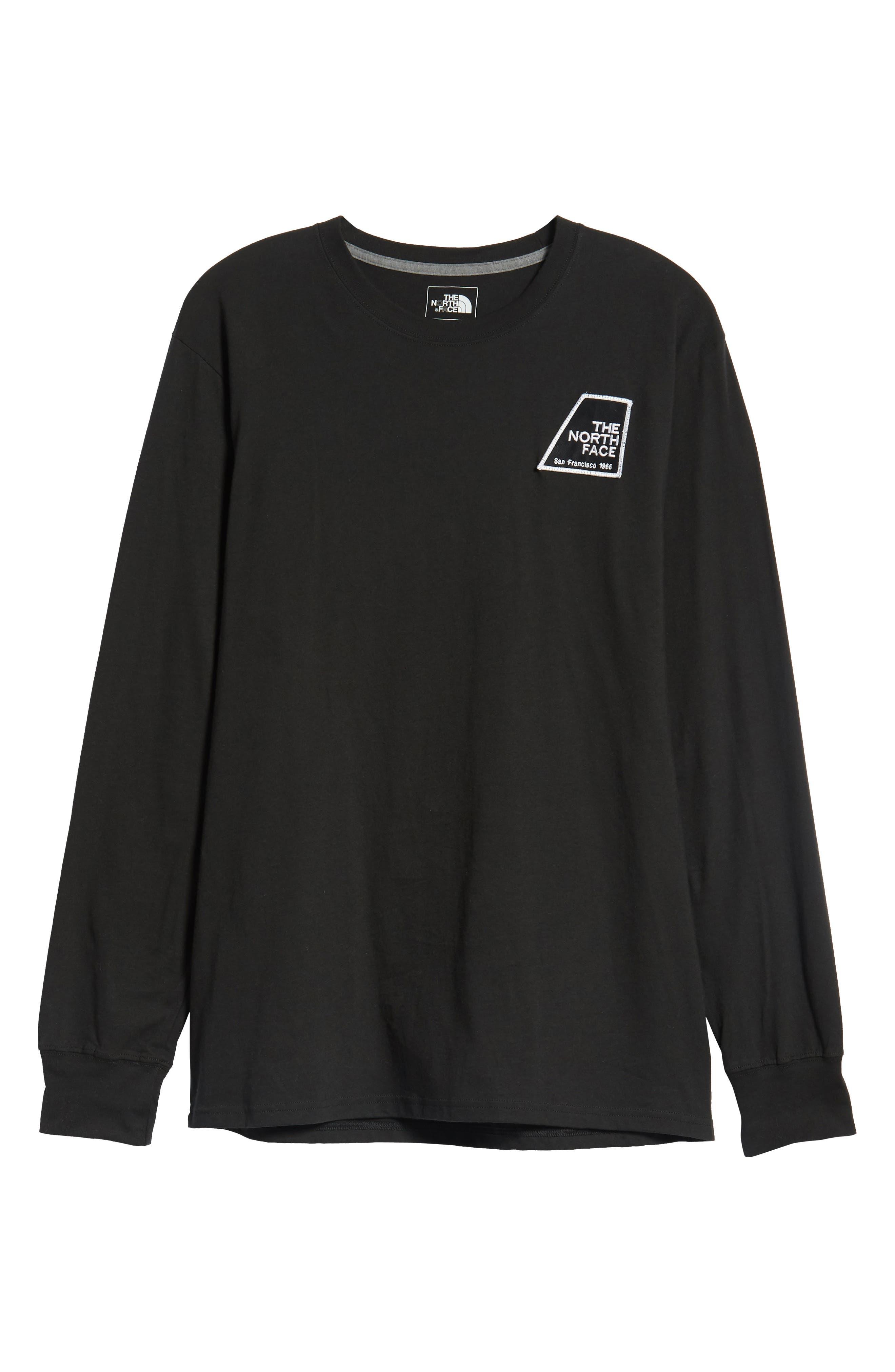 Graphic Patch T-Shirt,                             Alternate thumbnail 6, color,                             TNF BLACK