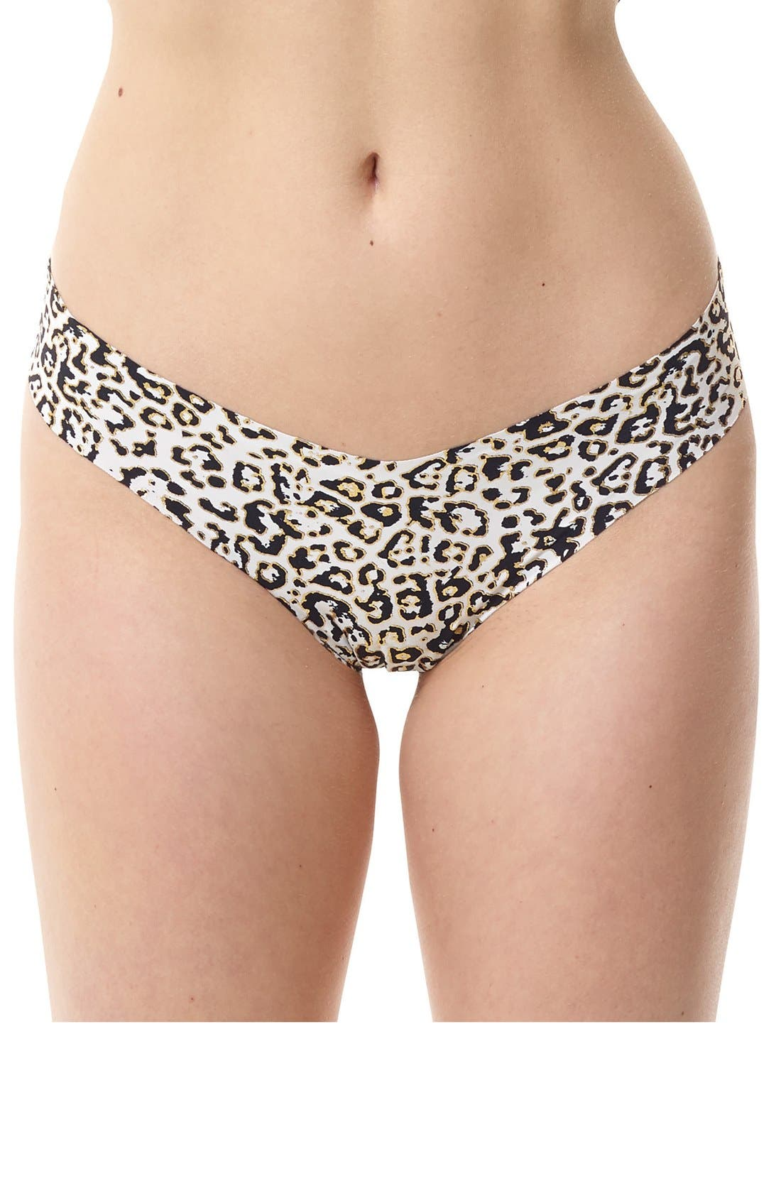 Print Microfiber Thong,                             Main thumbnail 92, color,