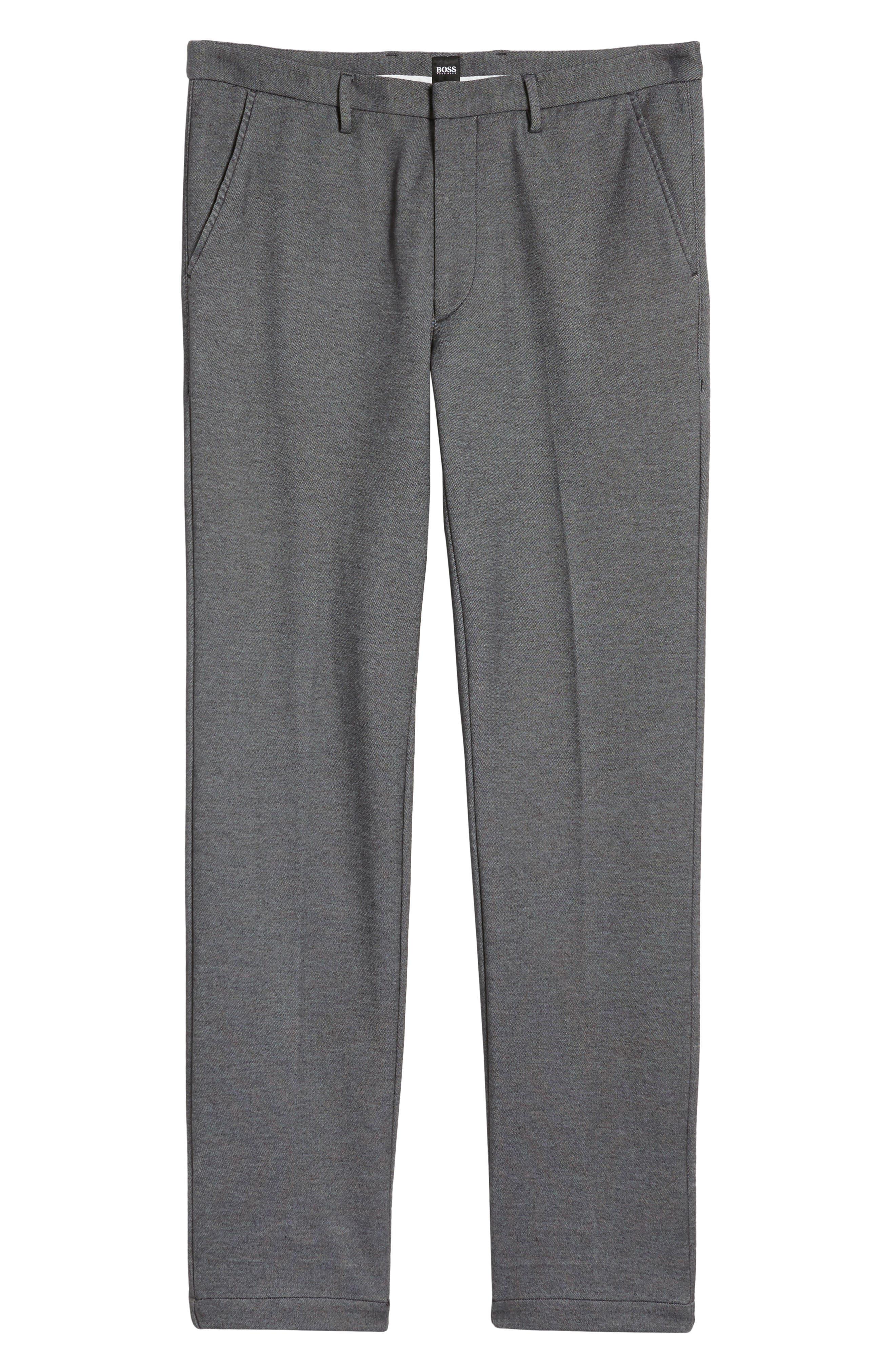 Kaito Melange Cotton Blend Pants,                             Alternate thumbnail 6, color,                             030