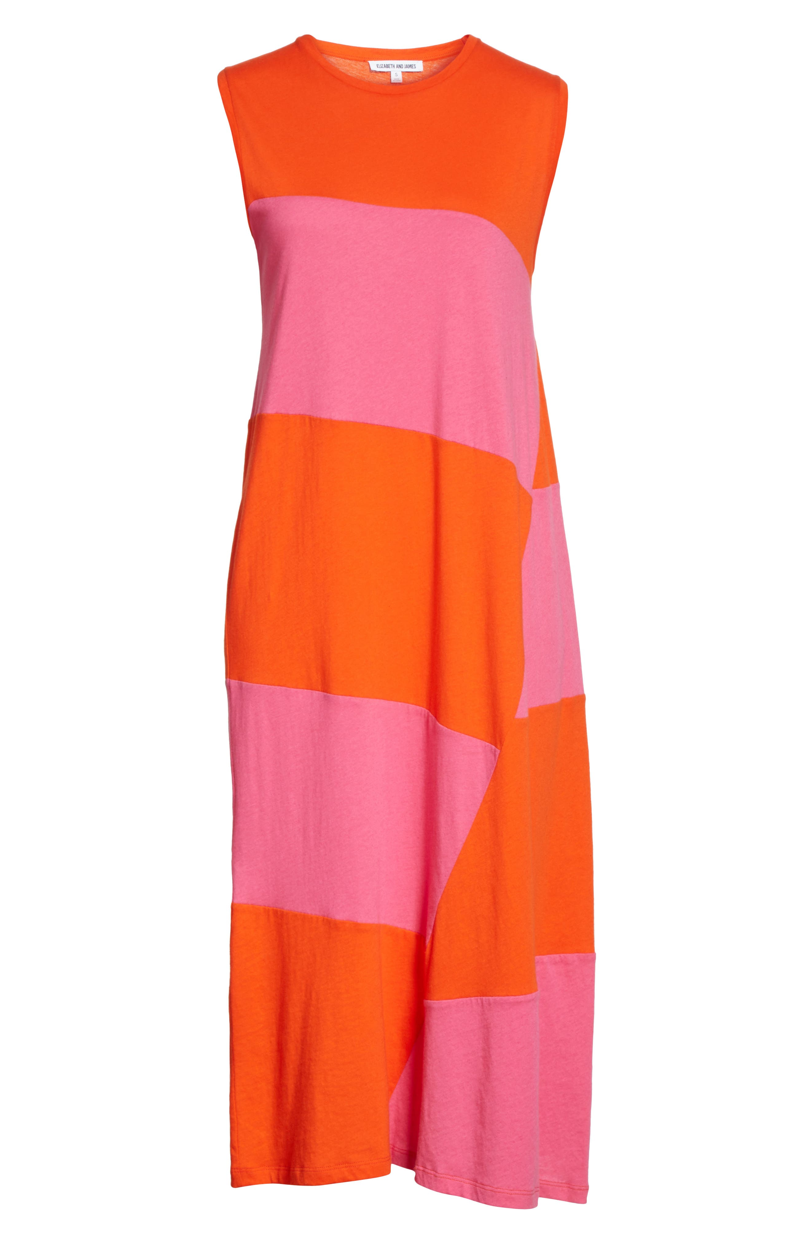 Dove Asymmetrical Stripe Dress,                             Alternate thumbnail 6, color,                             812