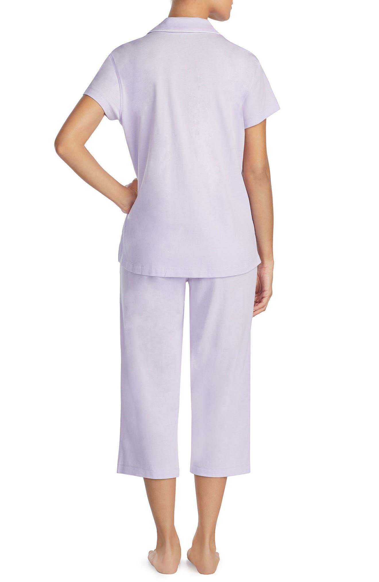 Knit Capri Pajamas,                             Alternate thumbnail 3, color,