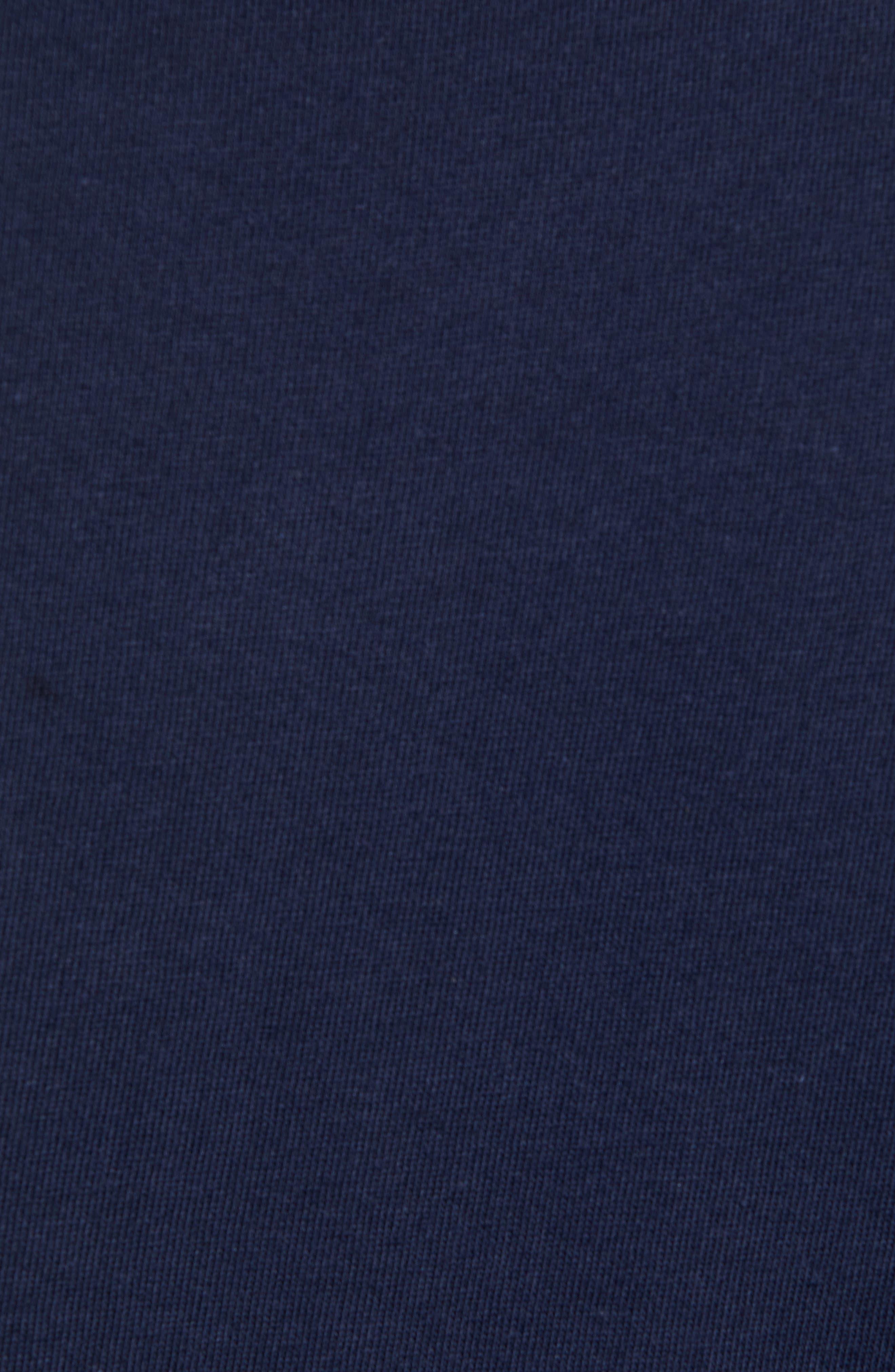Tech Jersey Regular Fit Tee,                             Alternate thumbnail 5, color,                             NAVY BLUE/ WHITE
