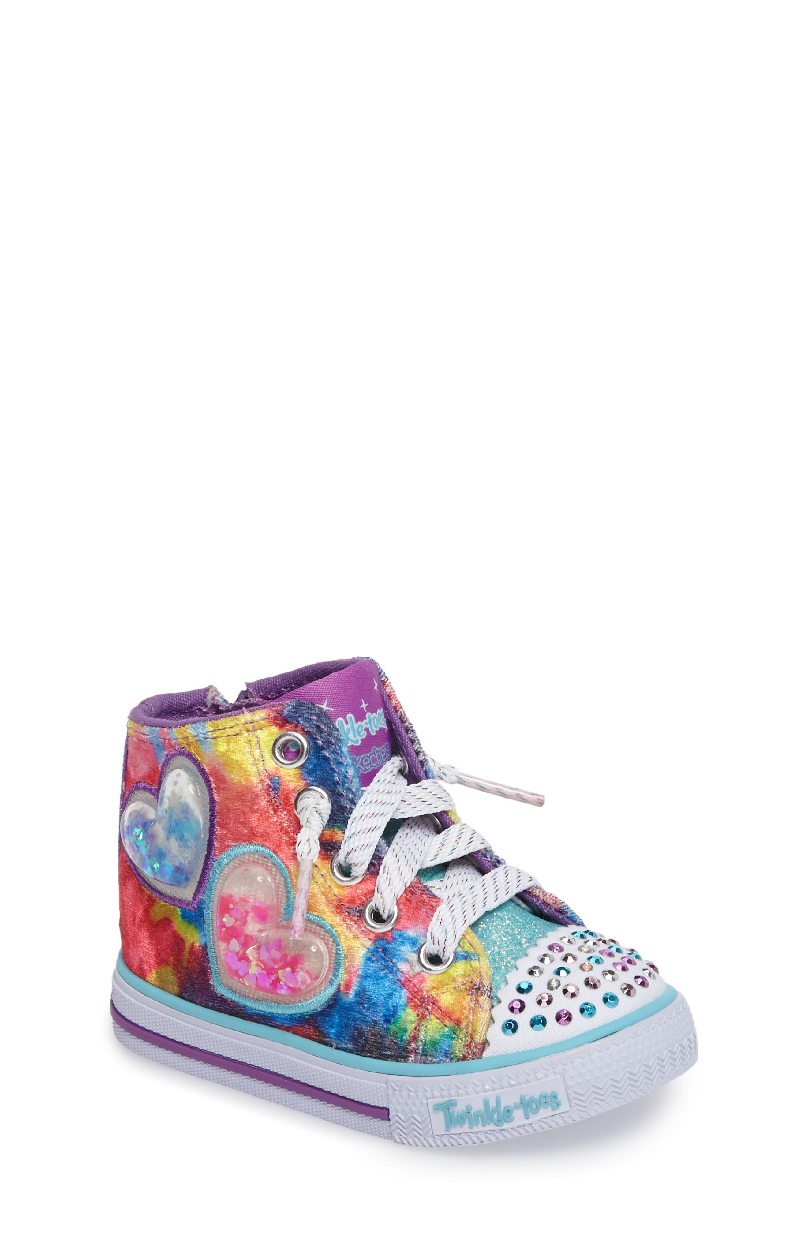 Twinkle Toes Shuffles Light-Up High Top Sneaker,                             Main thumbnail 1, color,                             650