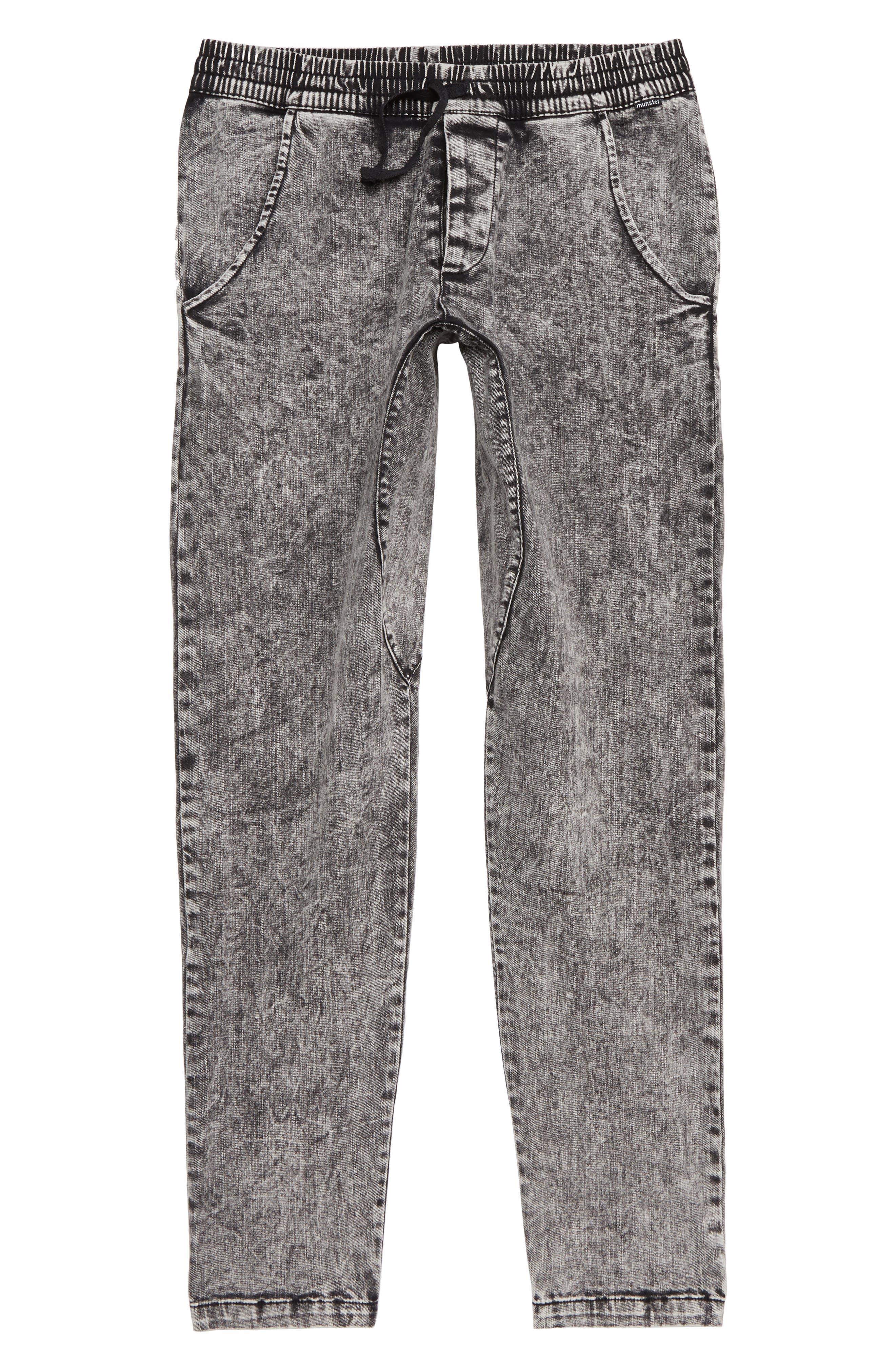 Cruz Stretch Cotton Pants,                             Main thumbnail 1, color,                             ACID BLACK