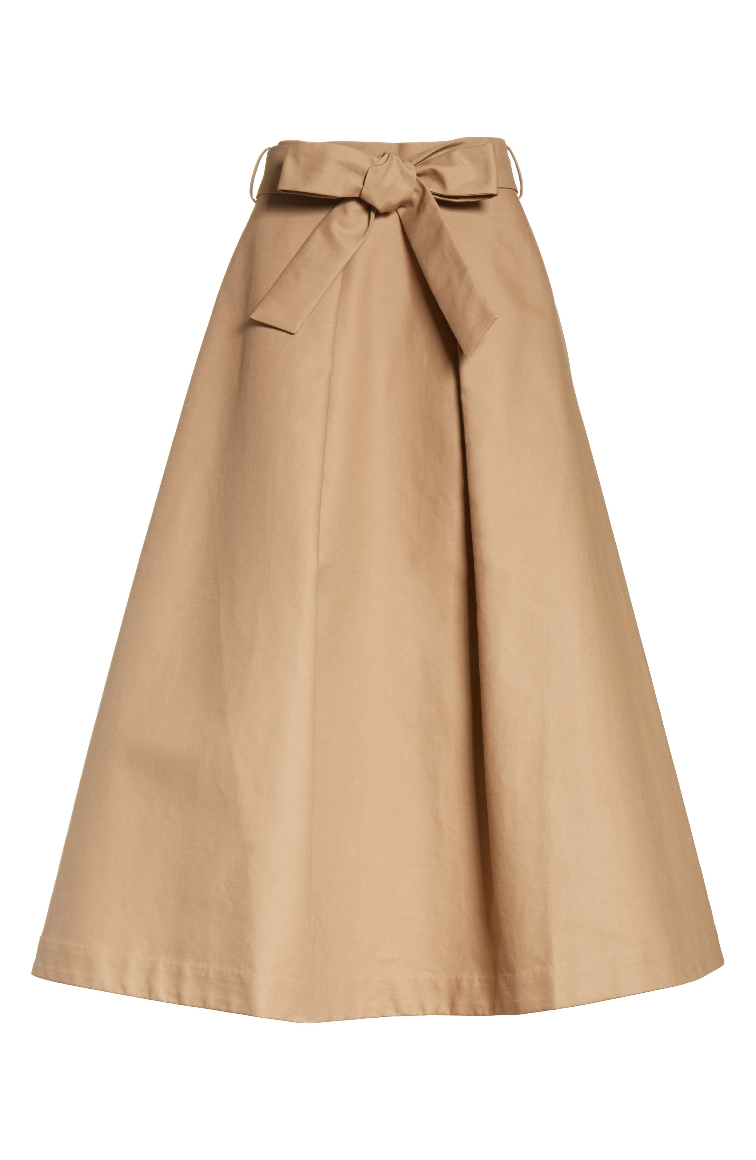 Belted Cotton Skirt,                             Alternate thumbnail 6, color,                             240