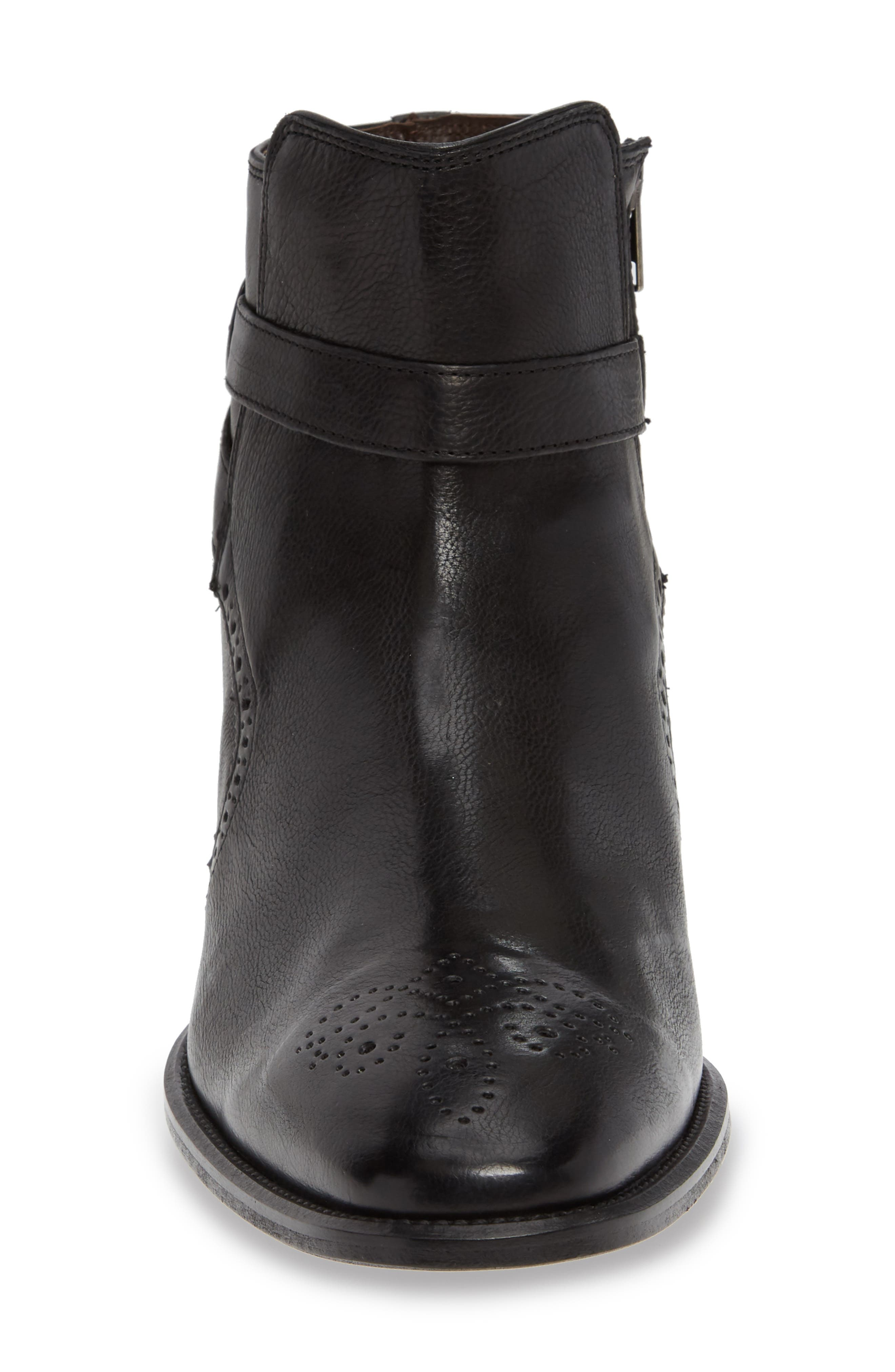 Maxwell Zip Boot,                             Alternate thumbnail 4, color,                             BLACK LEATHER