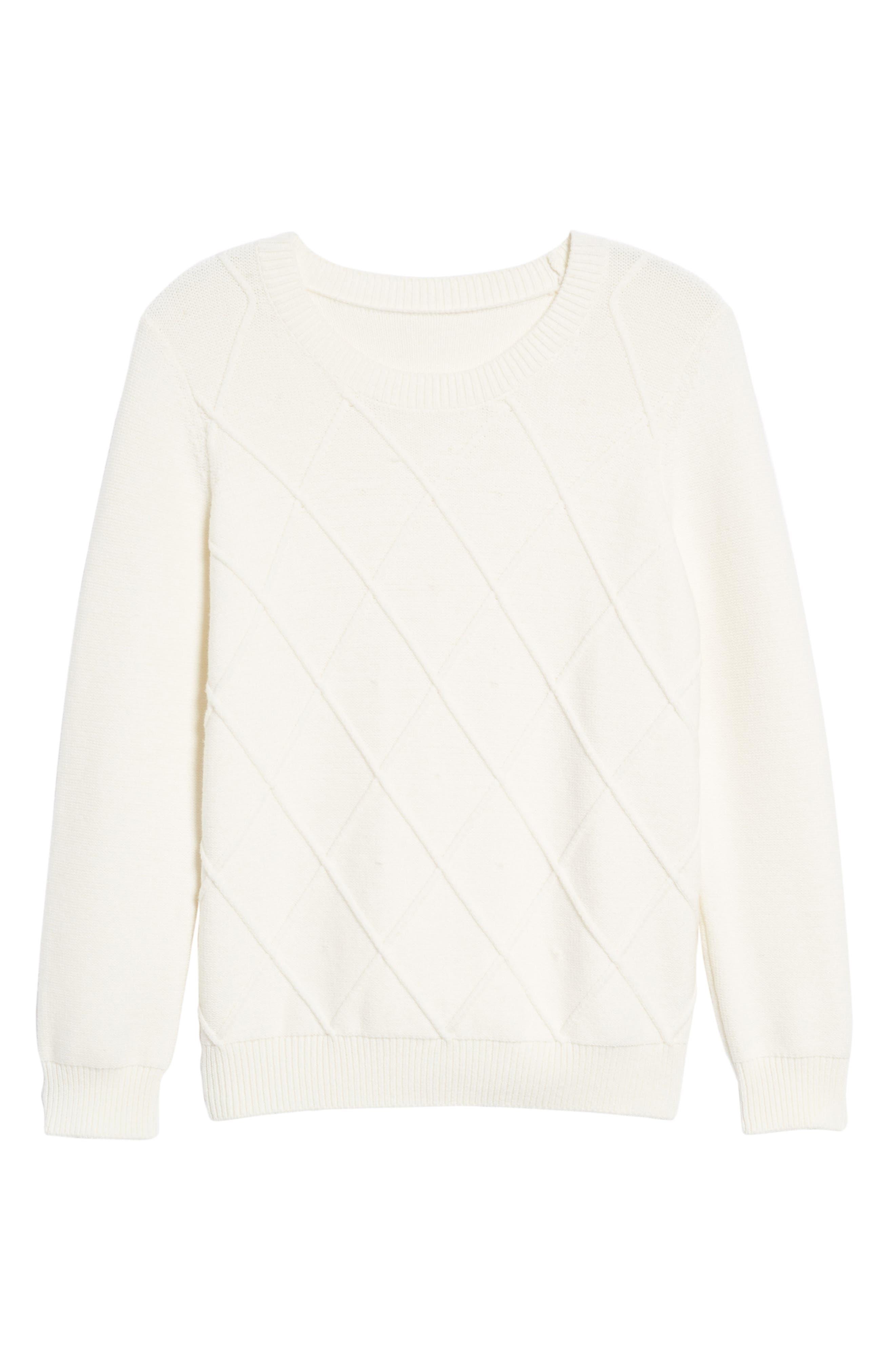 Argyle Dot Sweater,                             Alternate thumbnail 6, color,                             130