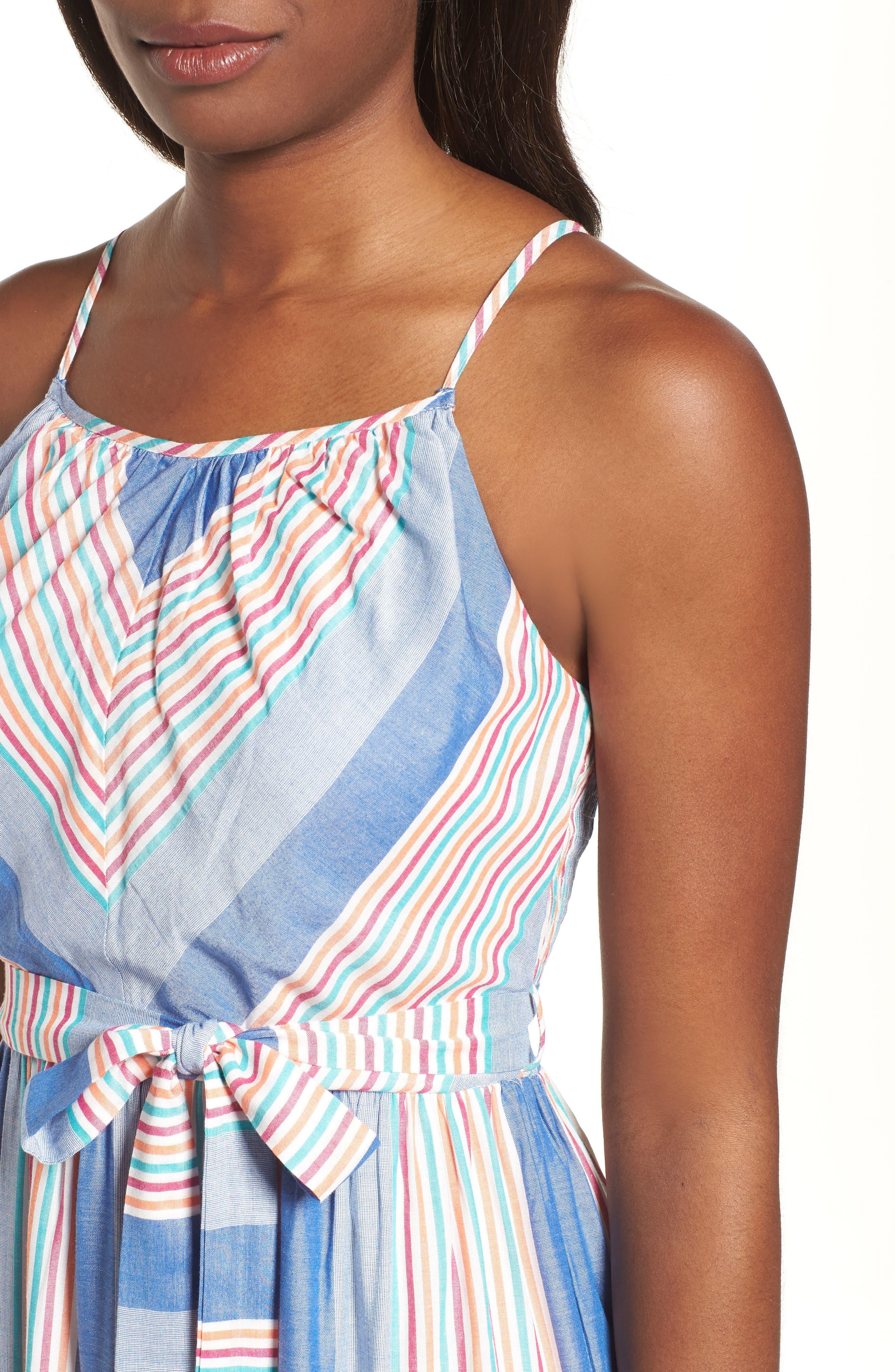 Tie Waist Cotton Maxi Dress,                             Alternate thumbnail 16, color,