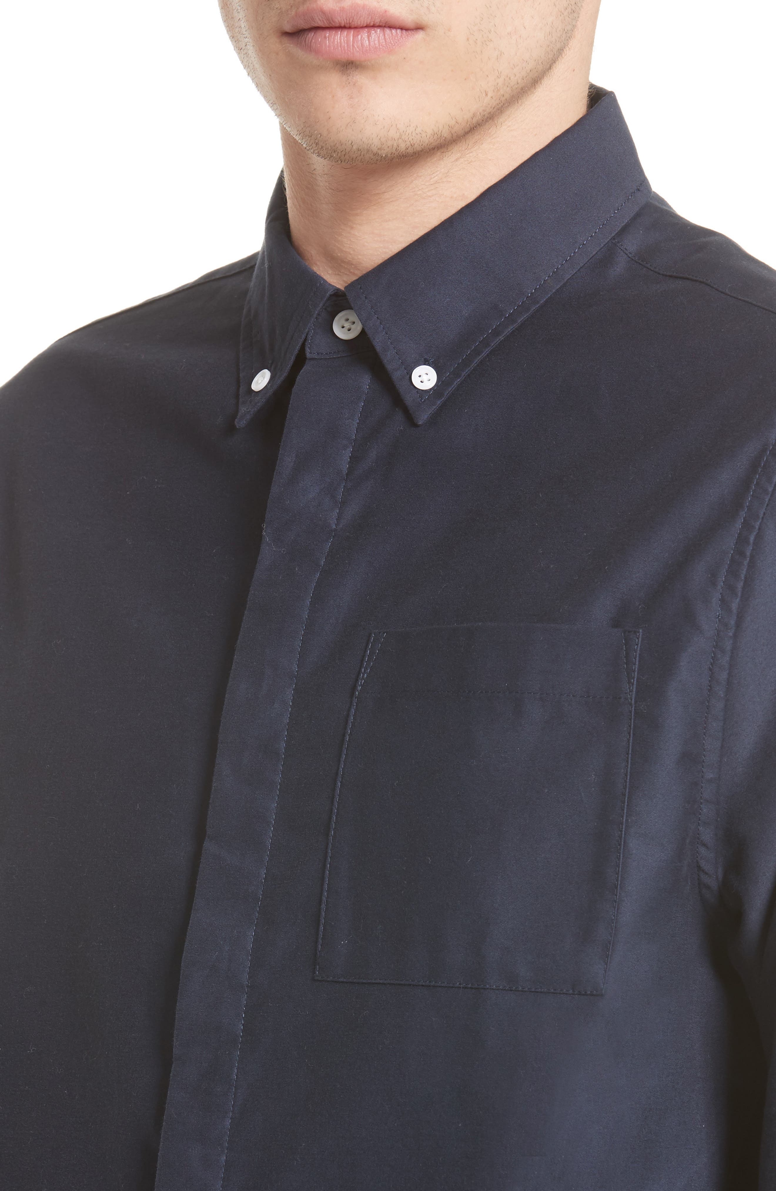 Mickey Concealed Button Sport Shirt,                             Alternate thumbnail 5, color,                             401