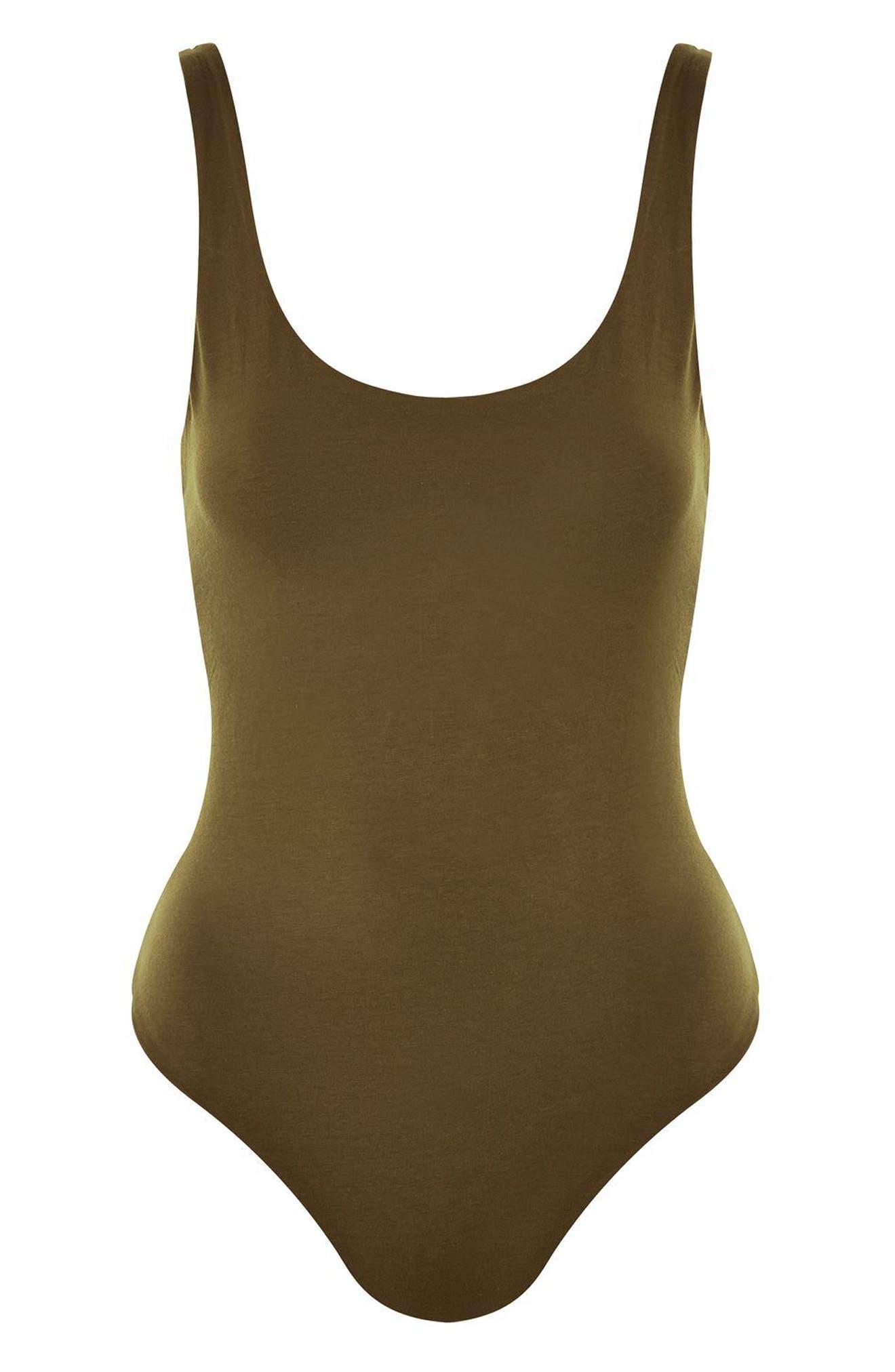 Scoop Back Thong Bodysuit,                             Alternate thumbnail 8, color,