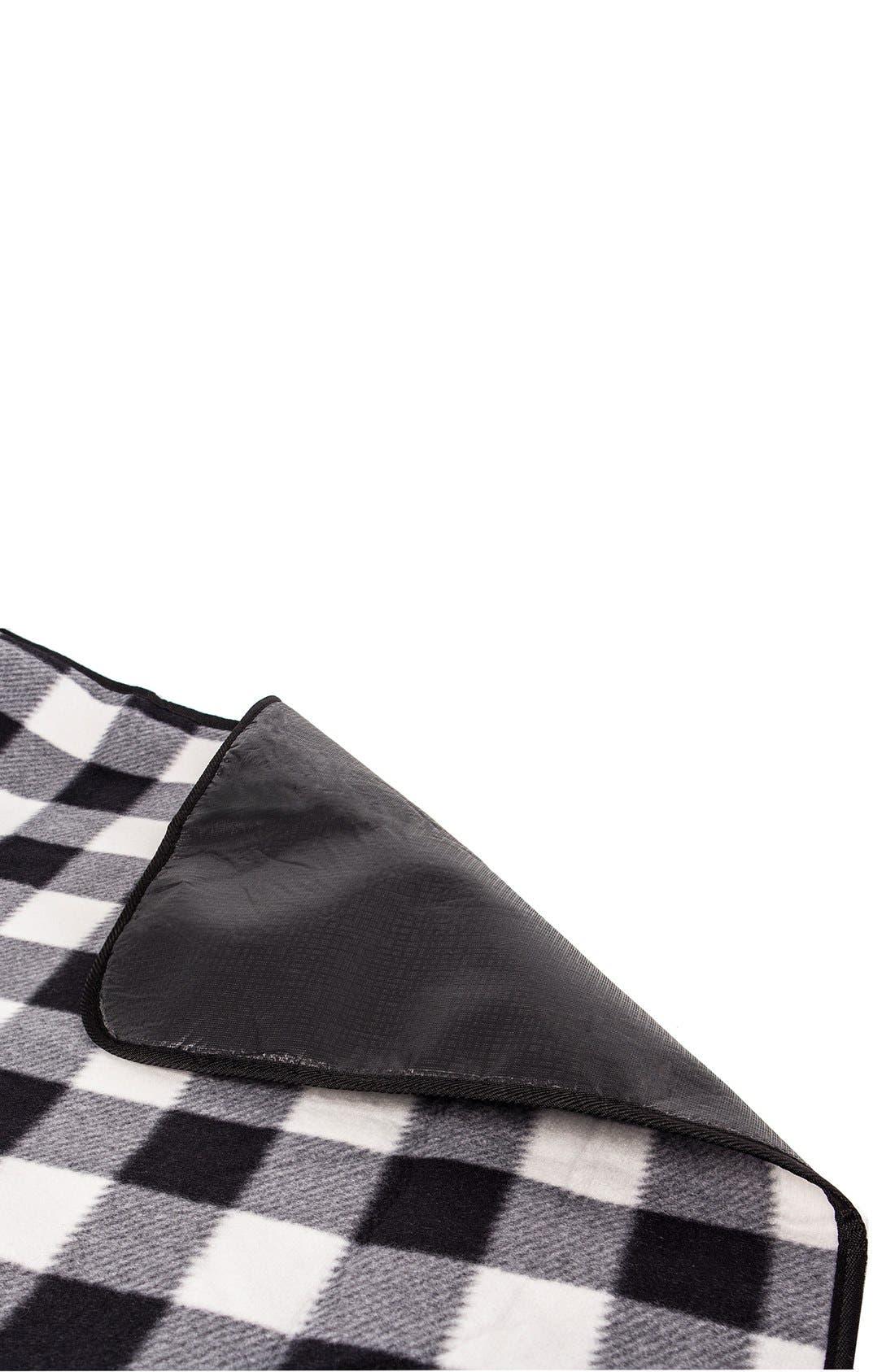 Monogram Plaid Fold-Up Picnic Blanket,                             Alternate thumbnail 4, color,                             018