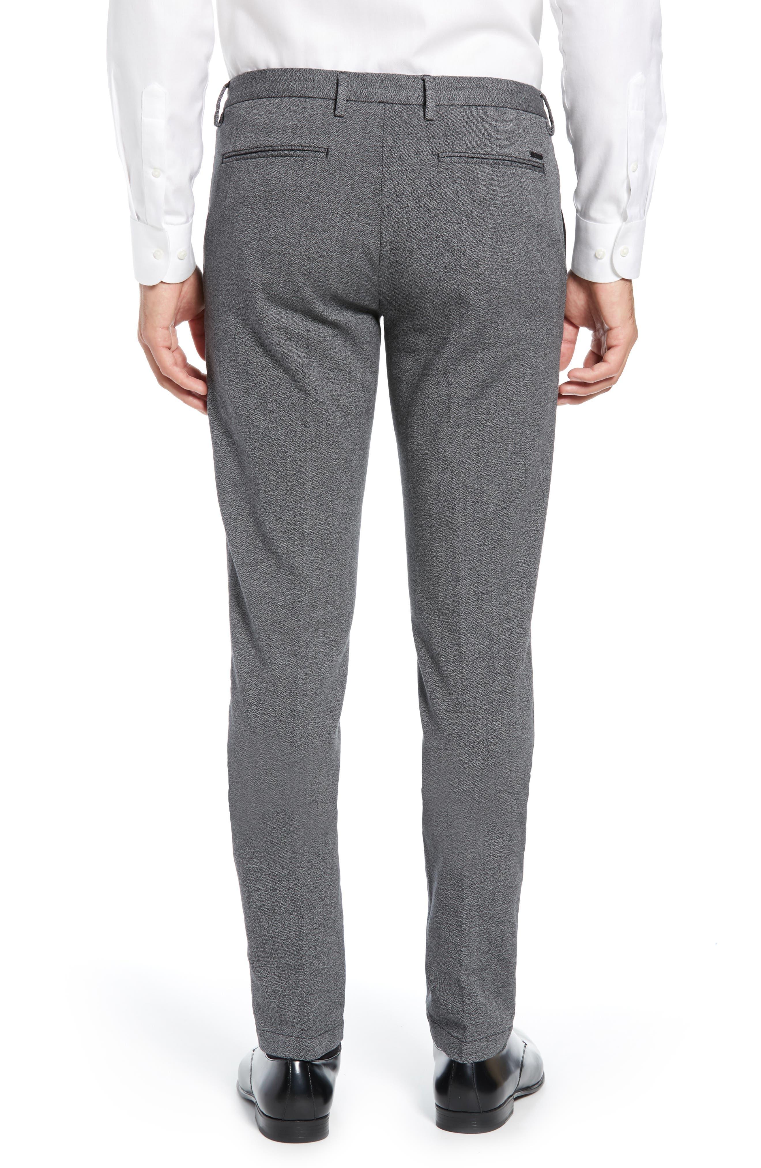 Kaito Slim Fit Twill Trousers,                             Alternate thumbnail 2, color,                             BLACK