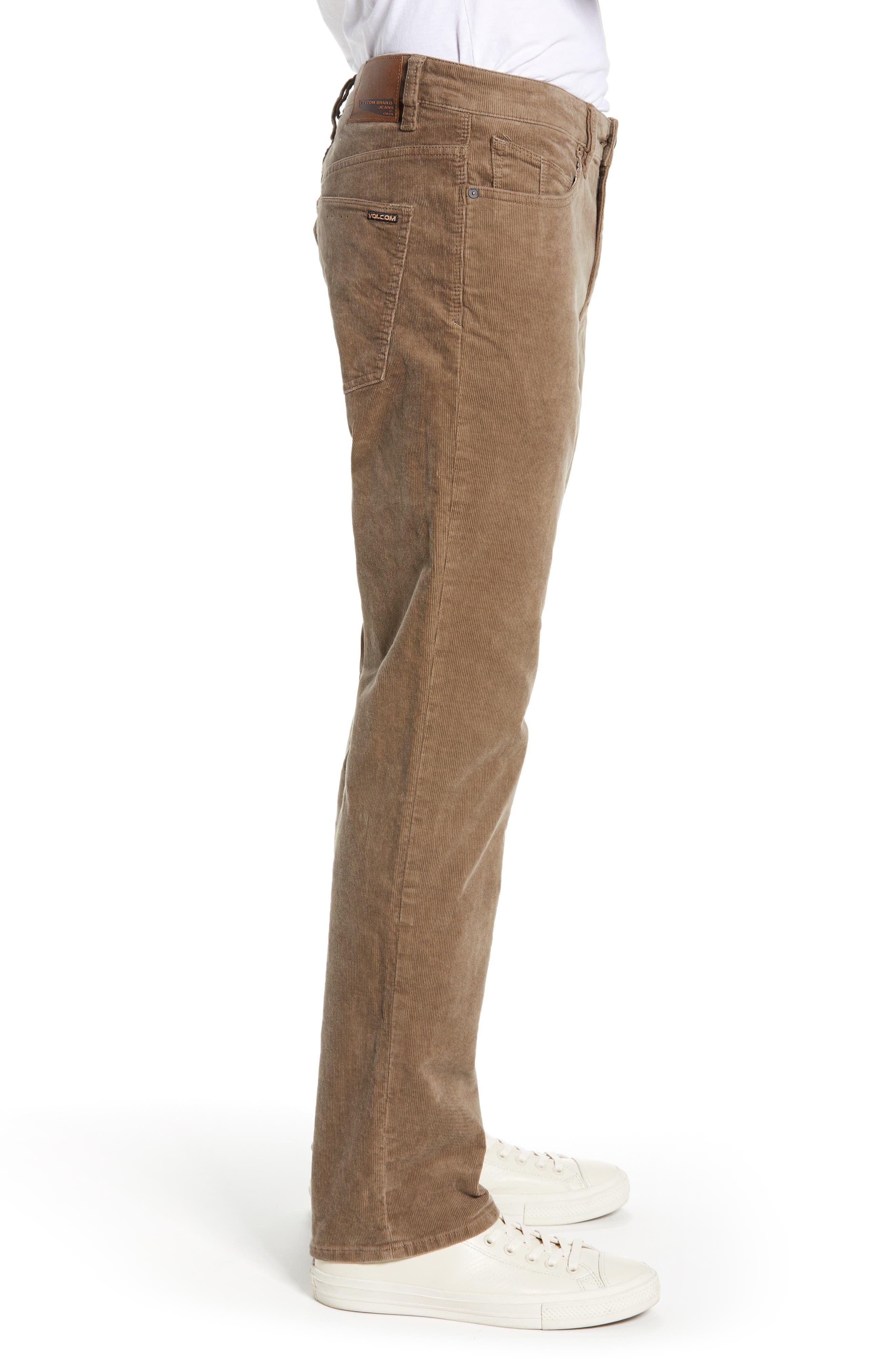 Solver Straight Leg Corduroy Pants,                             Alternate thumbnail 3, color,                             MUSHROOM