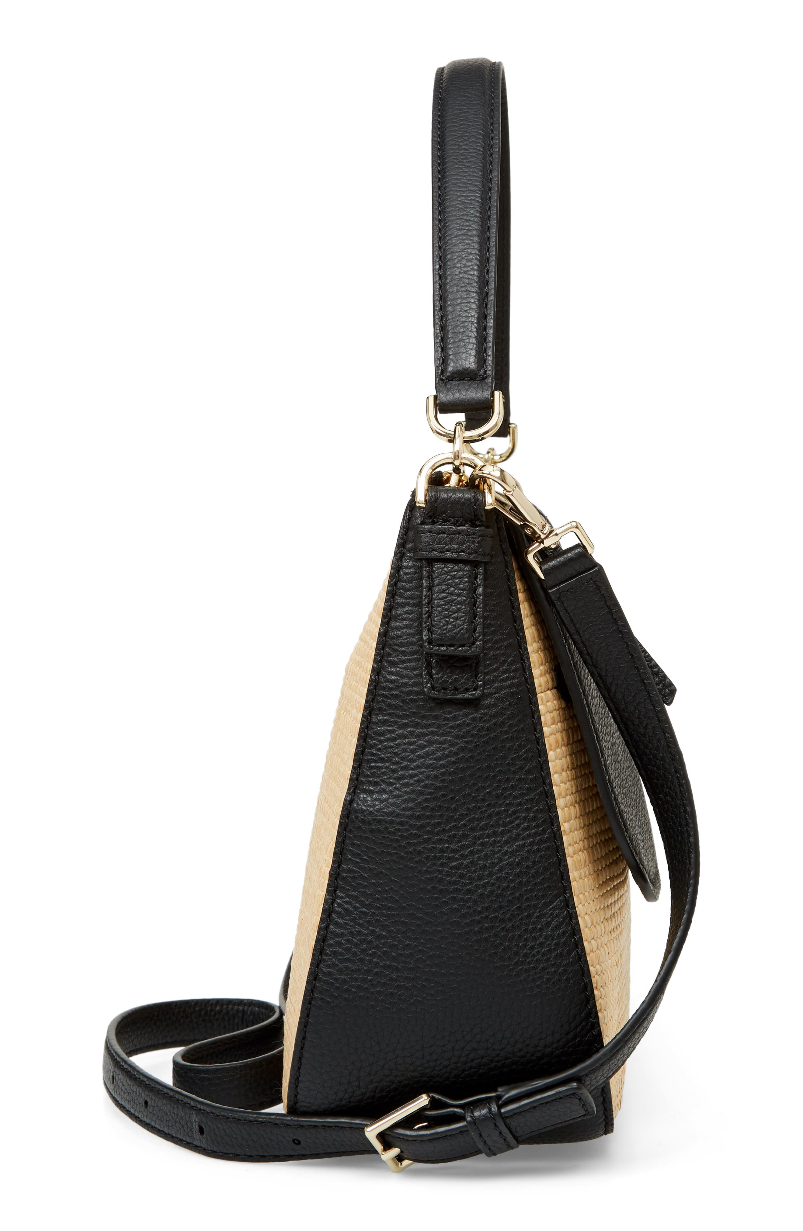 KATE SPADE NEW YORK,                             jackson street - colette straw & leather satchel,                             Alternate thumbnail 5, color,                             257