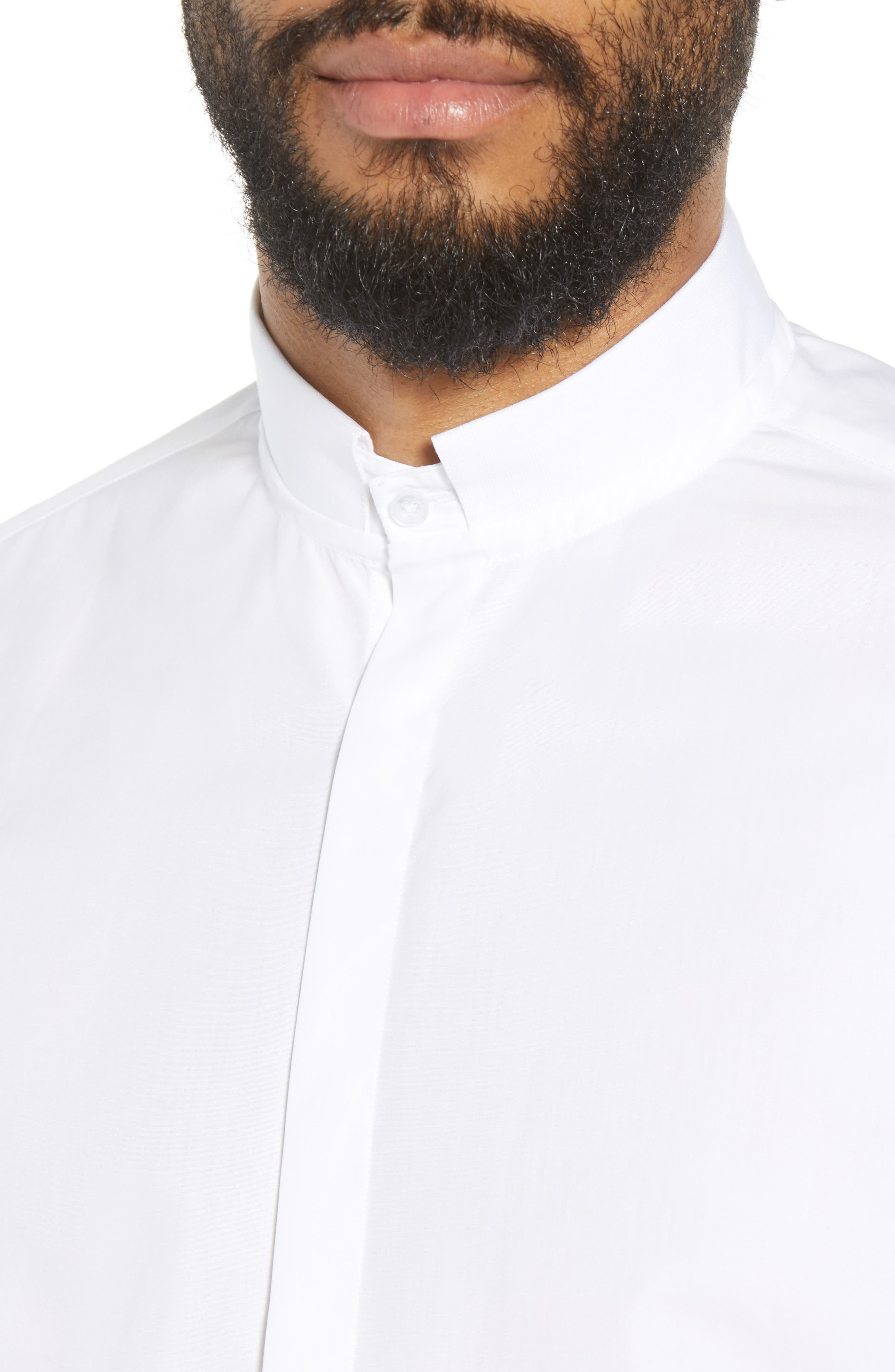 Slim Fit Solid Shirt,                             Alternate thumbnail 4, color,                             100