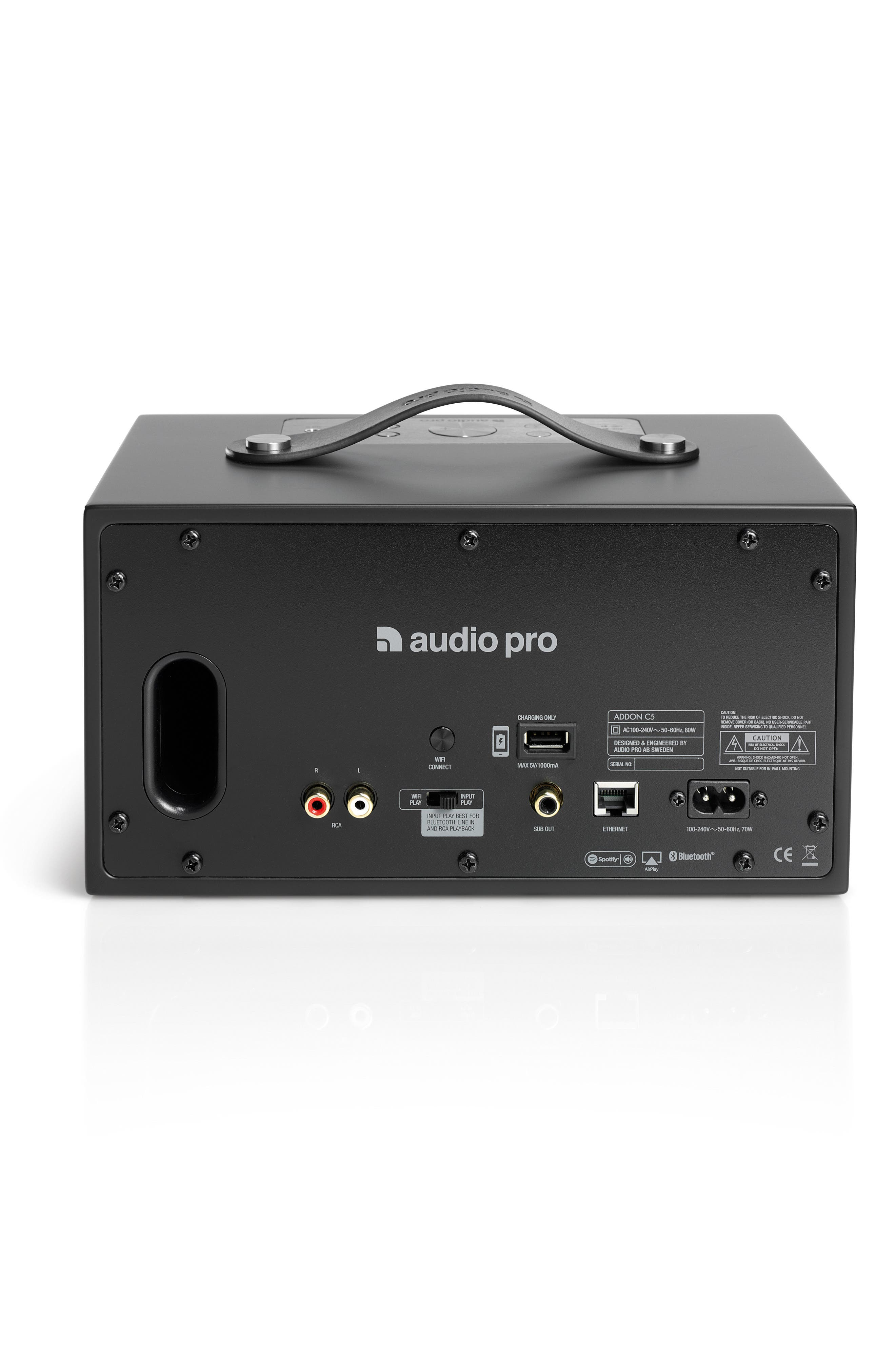 Addon C5 Wi-Fi Multi Room Bluetooth<sup>®</sup> Speaker,                             Alternate thumbnail 2, color,                             COAL BLACK