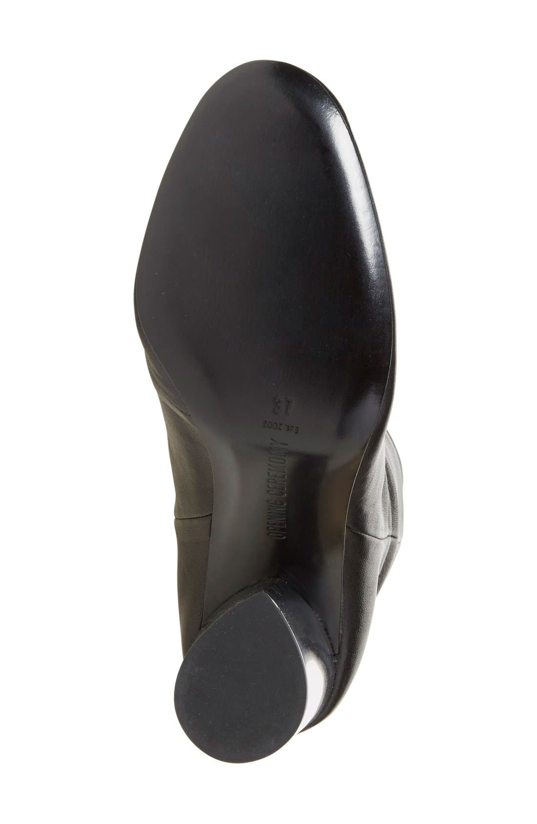 'Zloty' Round Toe Bootie,                             Alternate thumbnail 4, color,                             002