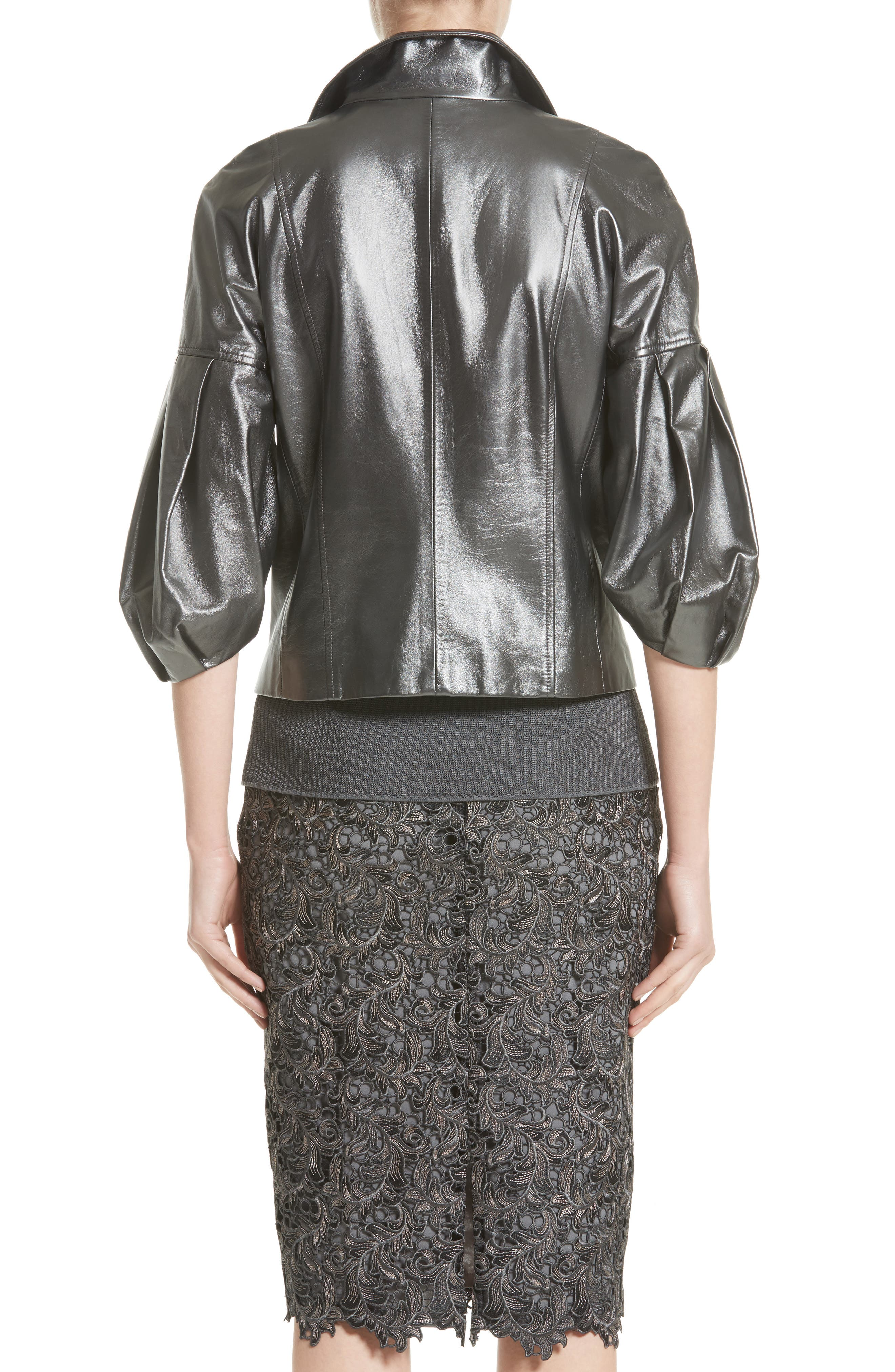 Pearlized Nappa Leather Jacket,                             Alternate thumbnail 2, color,                             020